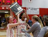 Naperville Central played Naperville North in a Class 4A girls basketball regional final.