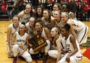 Montini Catholic played Benet Academy in the Class 4A girls basketball Proviso West sectional final in Hillside.