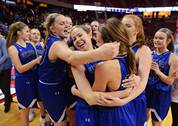 Geneva defeated Maine West 58-41 in the Class 4A state semifinal girls basketball game Friday at Redbird Arena in Normal. Geneva advances to Saturday's championship game against Montini.