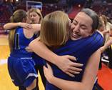 Geneva played Montini for first place in the Class 4A state girls basketball tournament on Saturday.