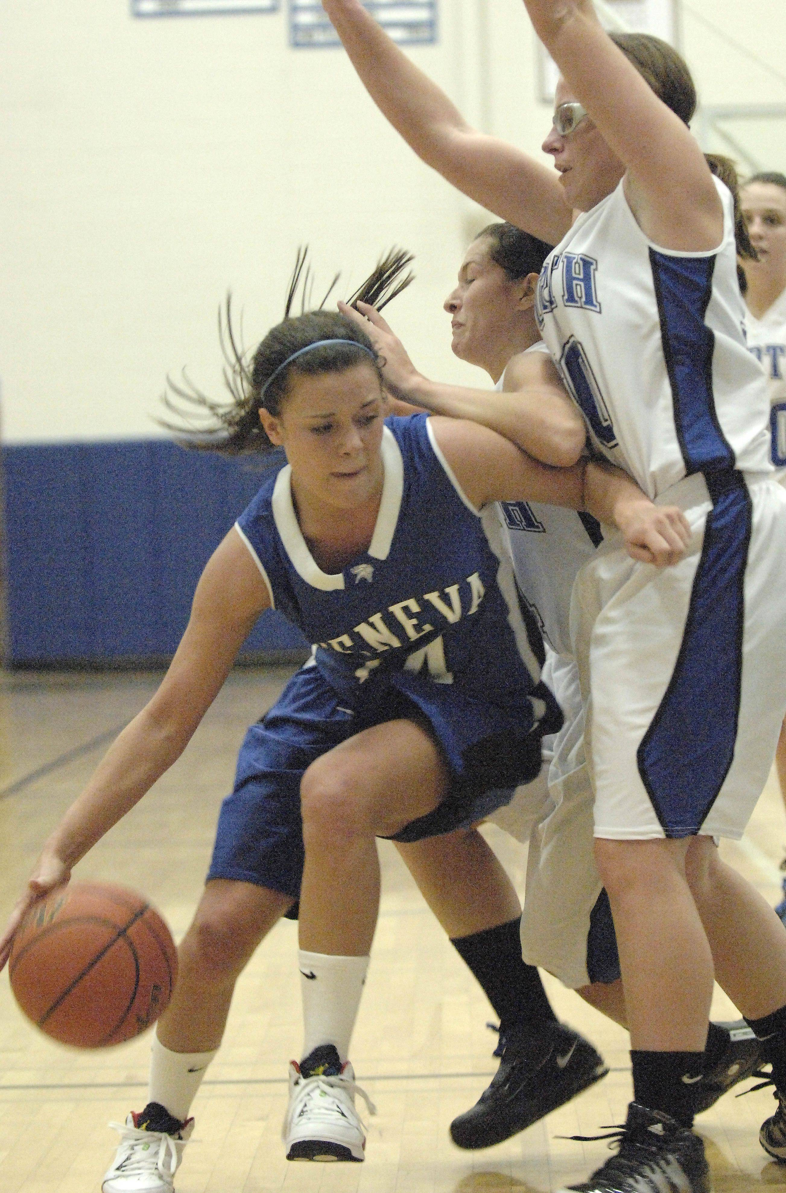 Images from the Geneva vs. St. Charles North girls basketball game Tuesday, November 30, 2010.