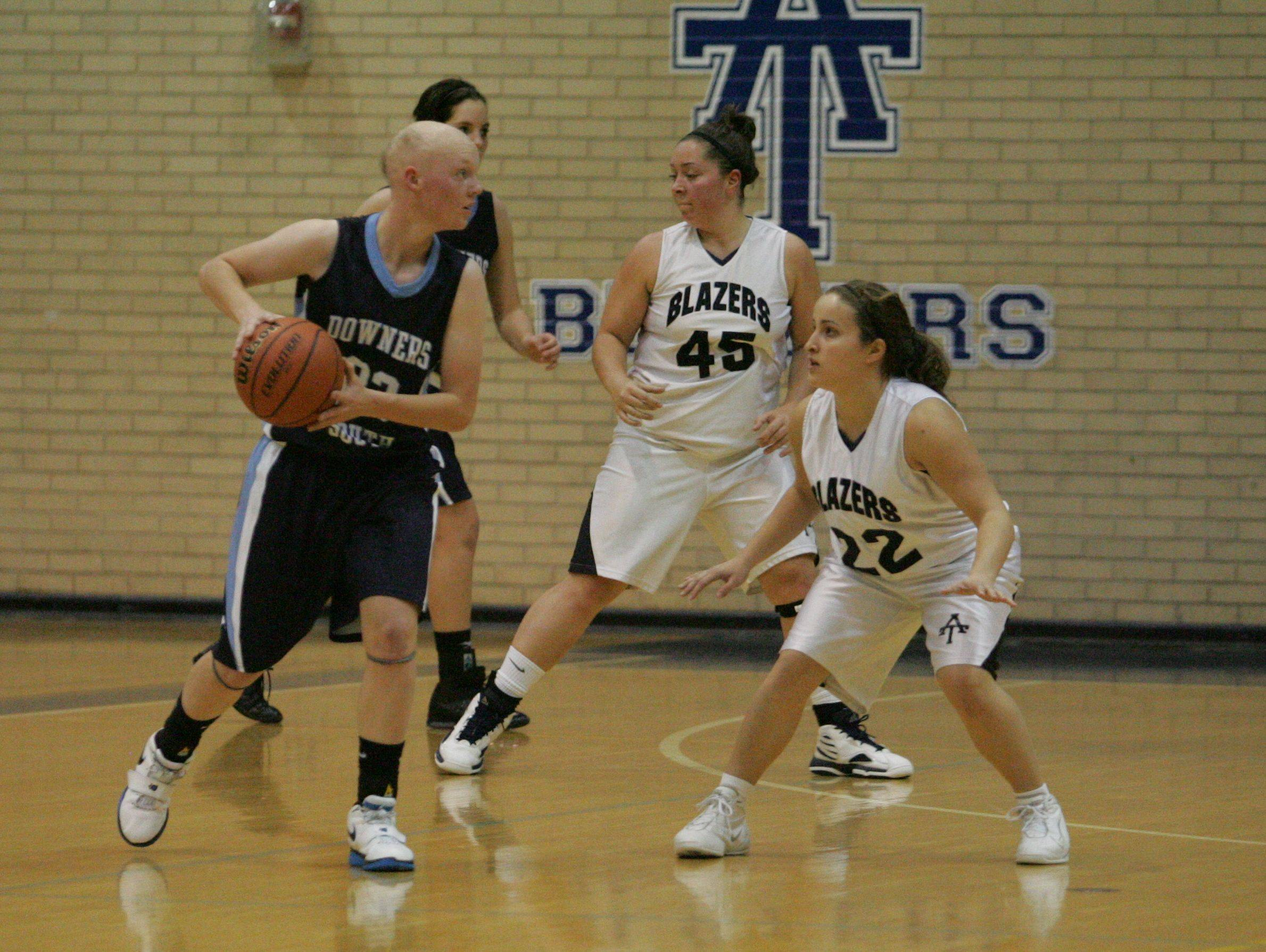 Girls basketball. Downers Grove South at Addison Trail in Addison.