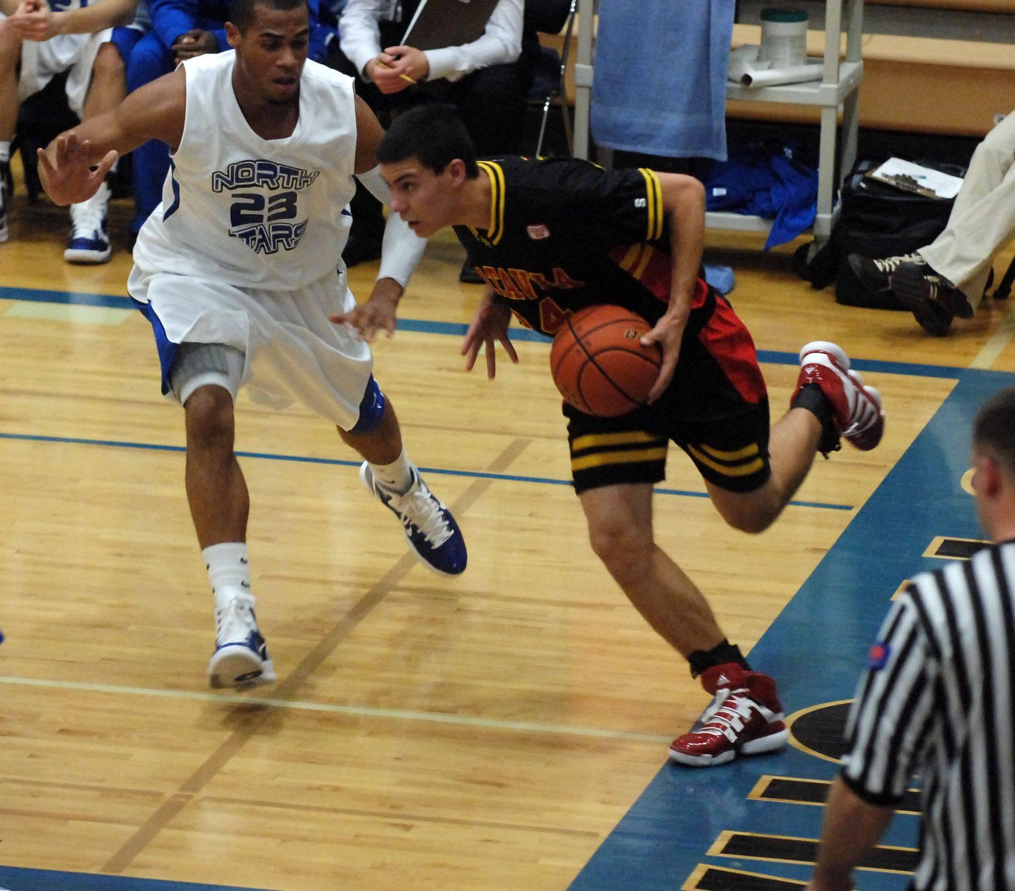 Images from the Batavia at St. Charles North boys basketball game, Thursday, December 2, 2010.