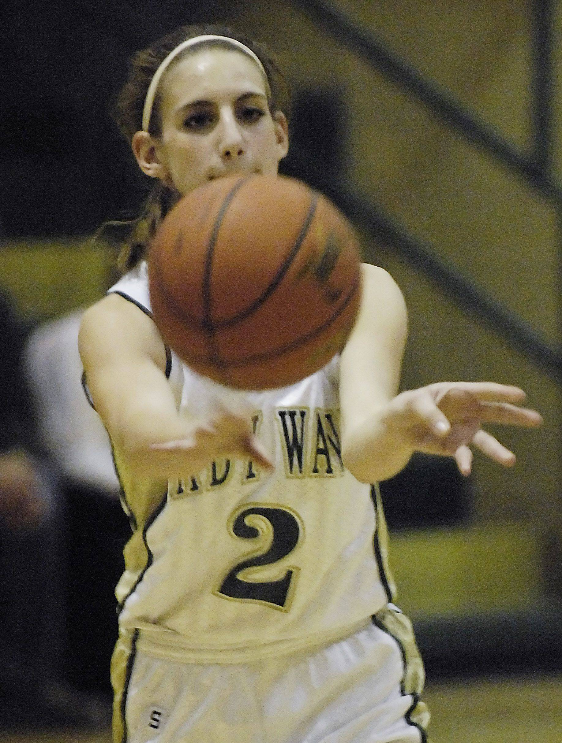 Images from the Rosary at St. Edward girls basketball game Thursday, December 2, 2010.