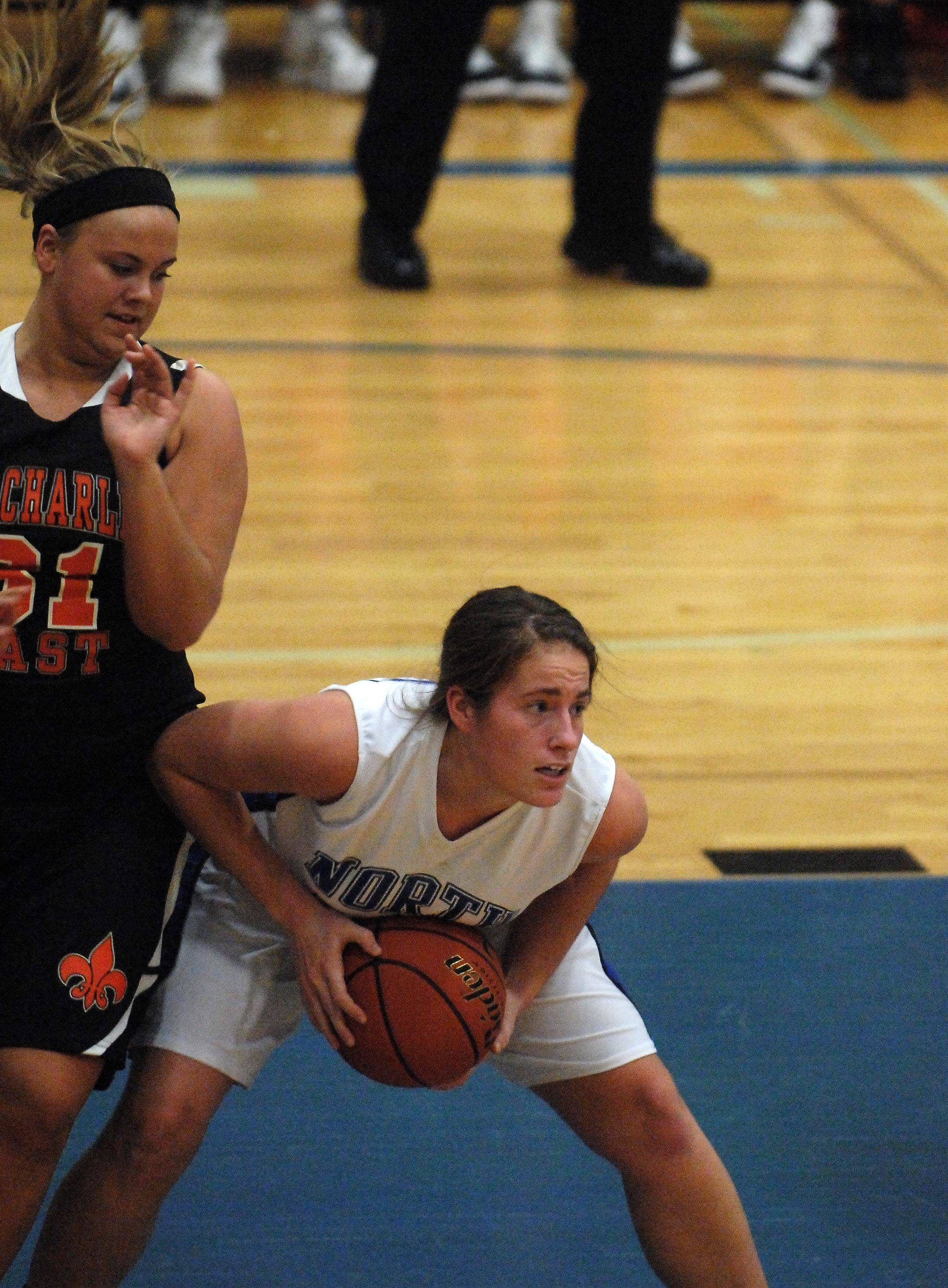 Images from the St. Charles East at St. Charles North girls basketball game Friday, December 3, 2010.