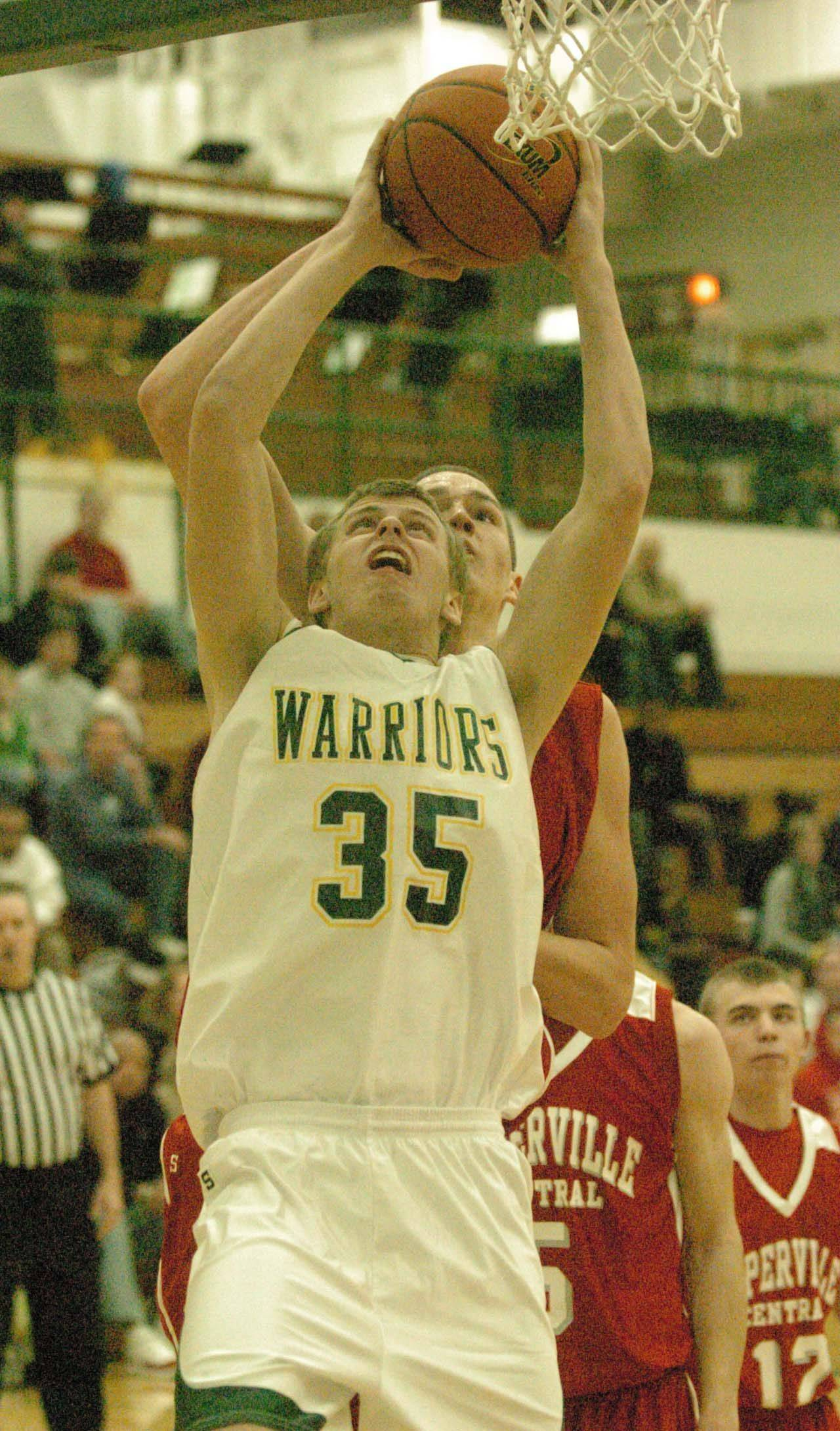 Nick Lisauskas of Waubonsie Valley puts up a shot during Saturday's game against Naperville Central.