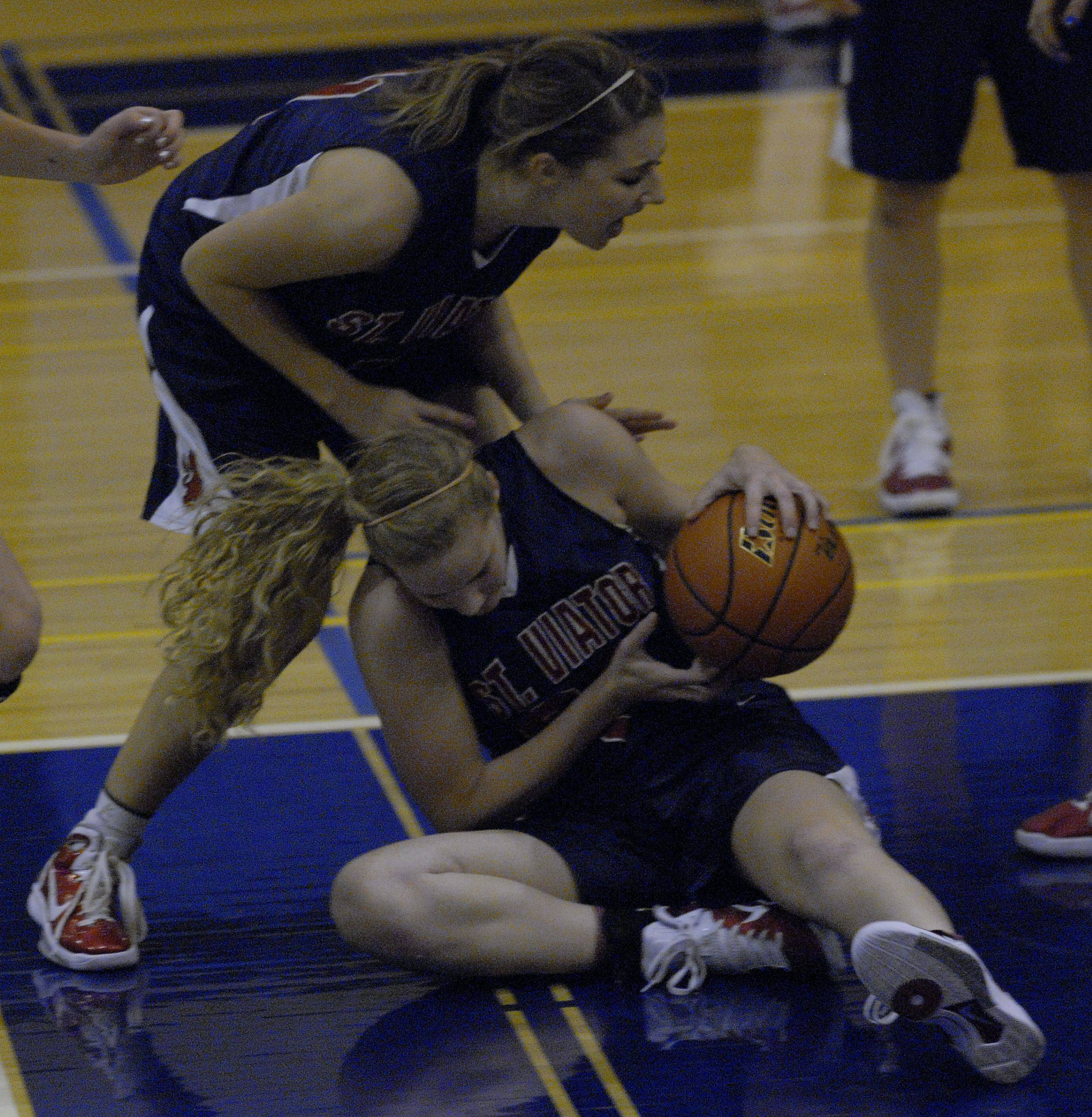 Images from the St. Viator vs Prospect girls basketball game in Mount Prospect on Monday, December 6th.