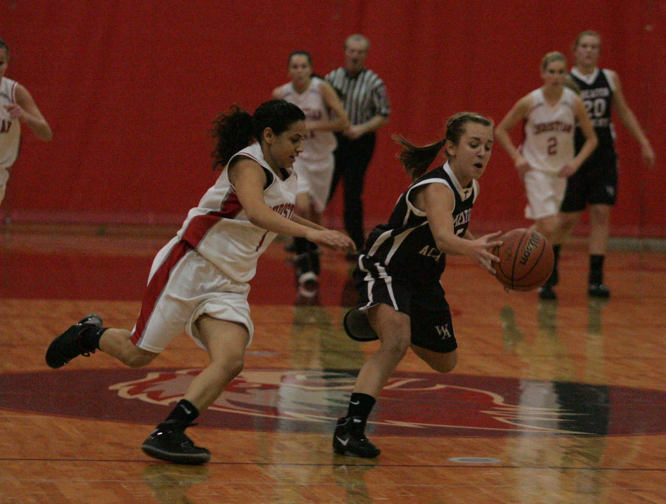Girls basketball. Wheaton Academy at Aurora Christian in Aurora.