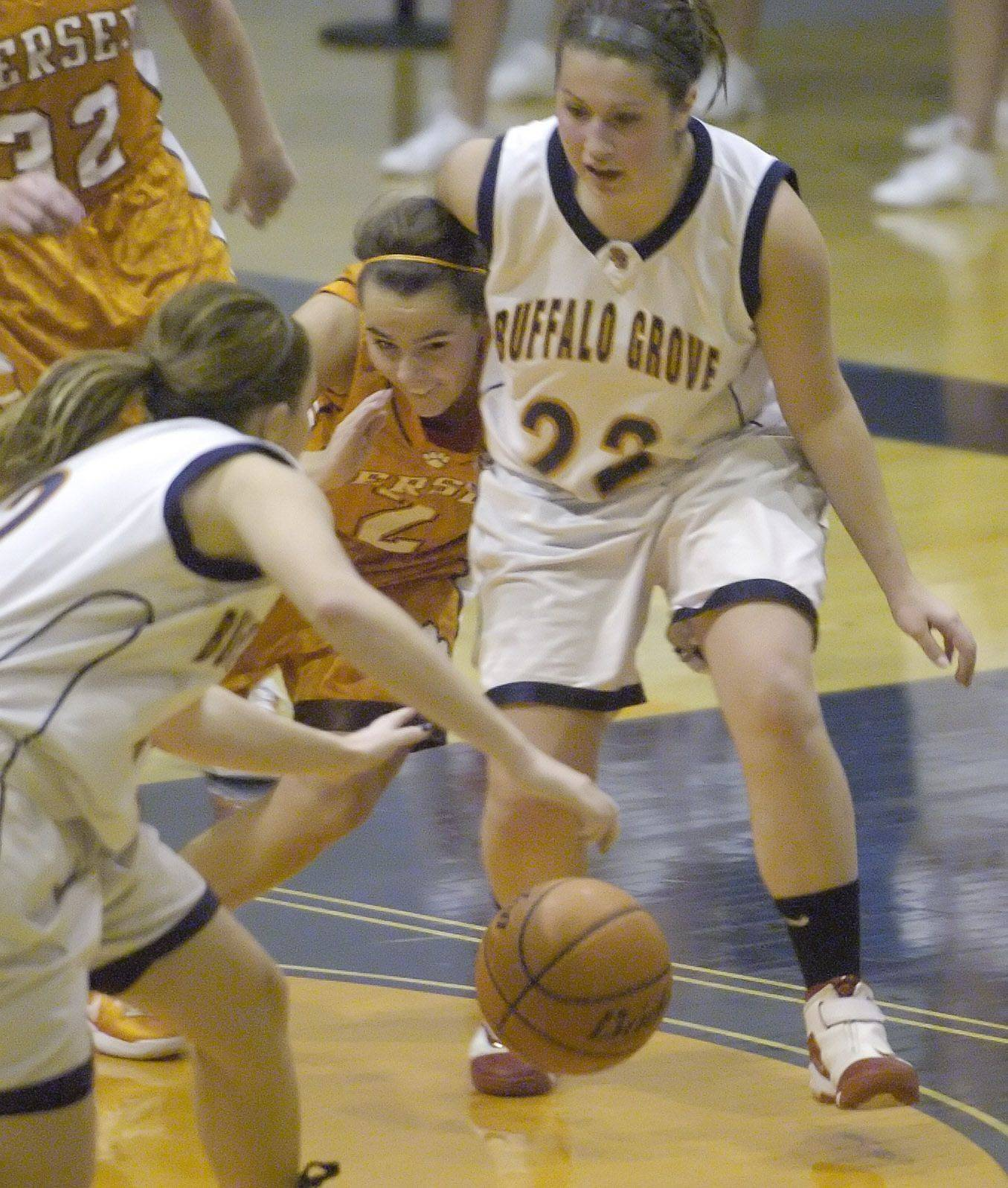 Images from the Hersey vs Buffalo Grove girls basketball game in Buffalo Grove on Tuesday, December 7th.