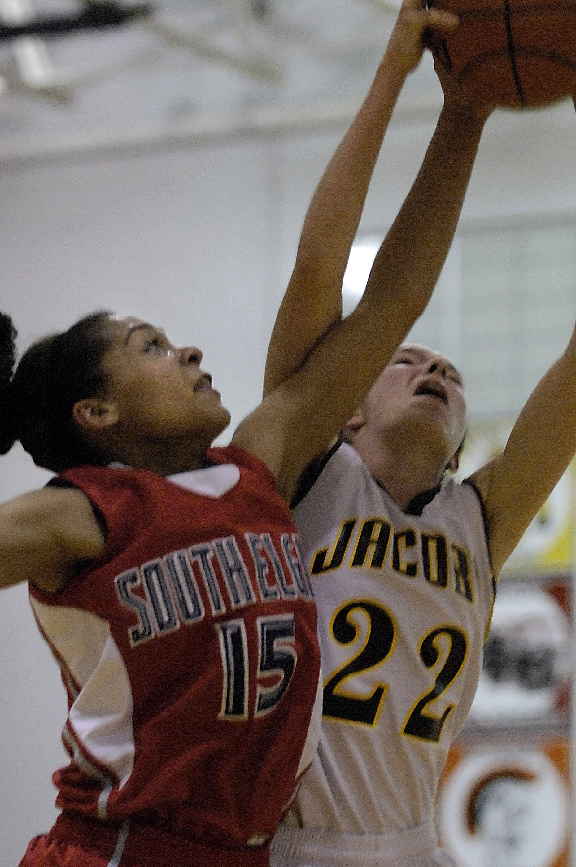 Images from the South Elgin vs. Jacobs girls basketball game Wednesday, December 8, 2010.