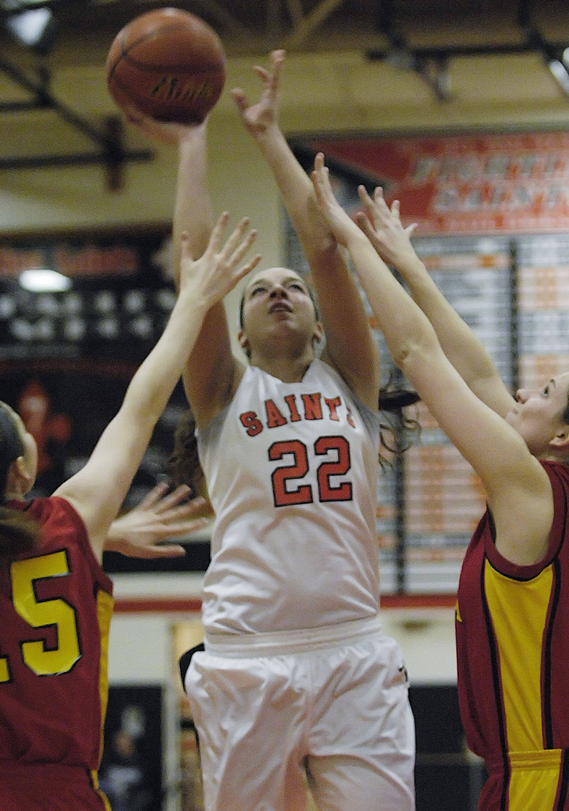 Images from the Batavia vs. St. Charles East girls basketball game Thursday, December 9, 2010.