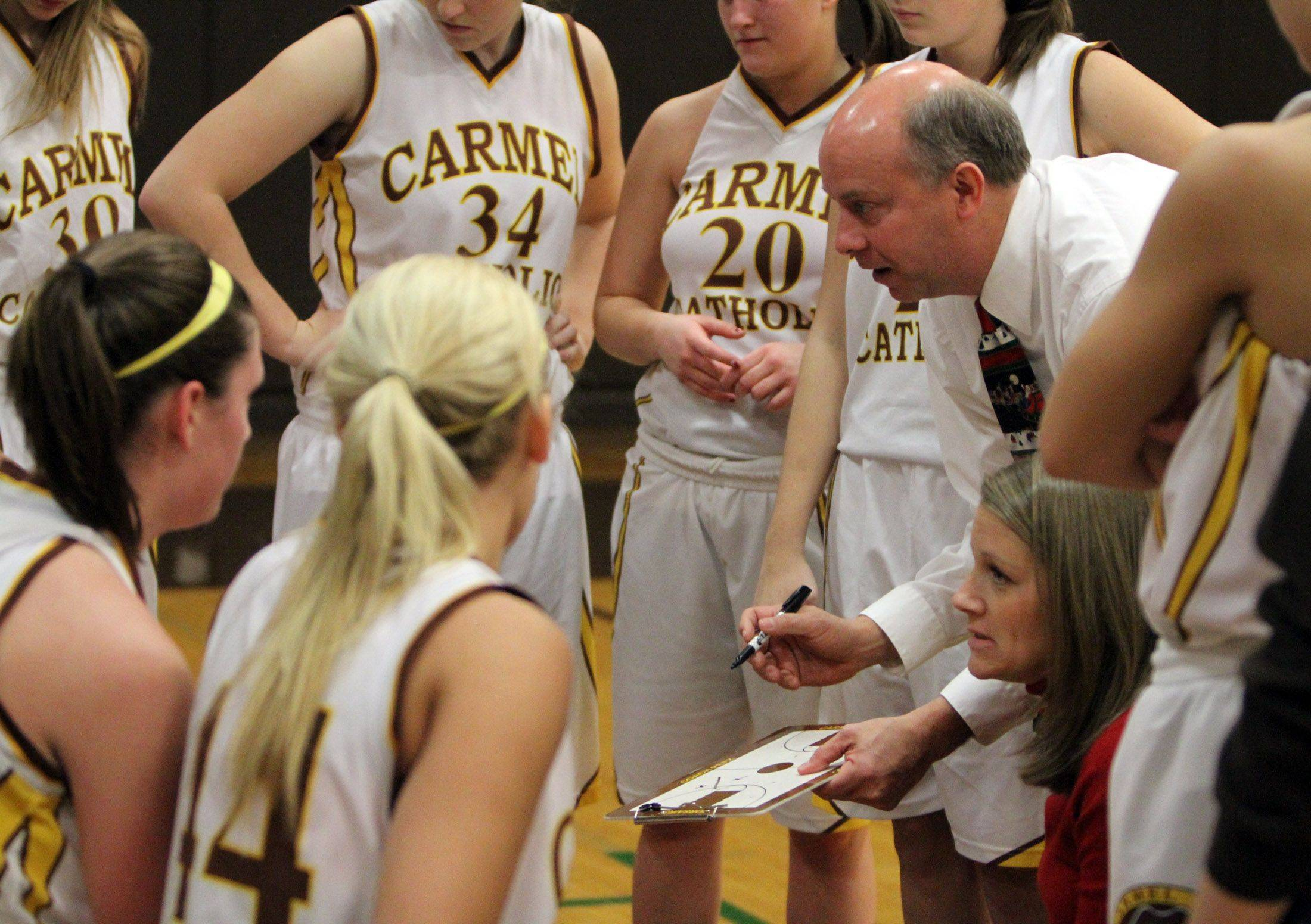 George LeClaire/gleclaire@dailyherald.com Images from the Bishop McNamara at Carmel girls basketball game Saturday, December 11.