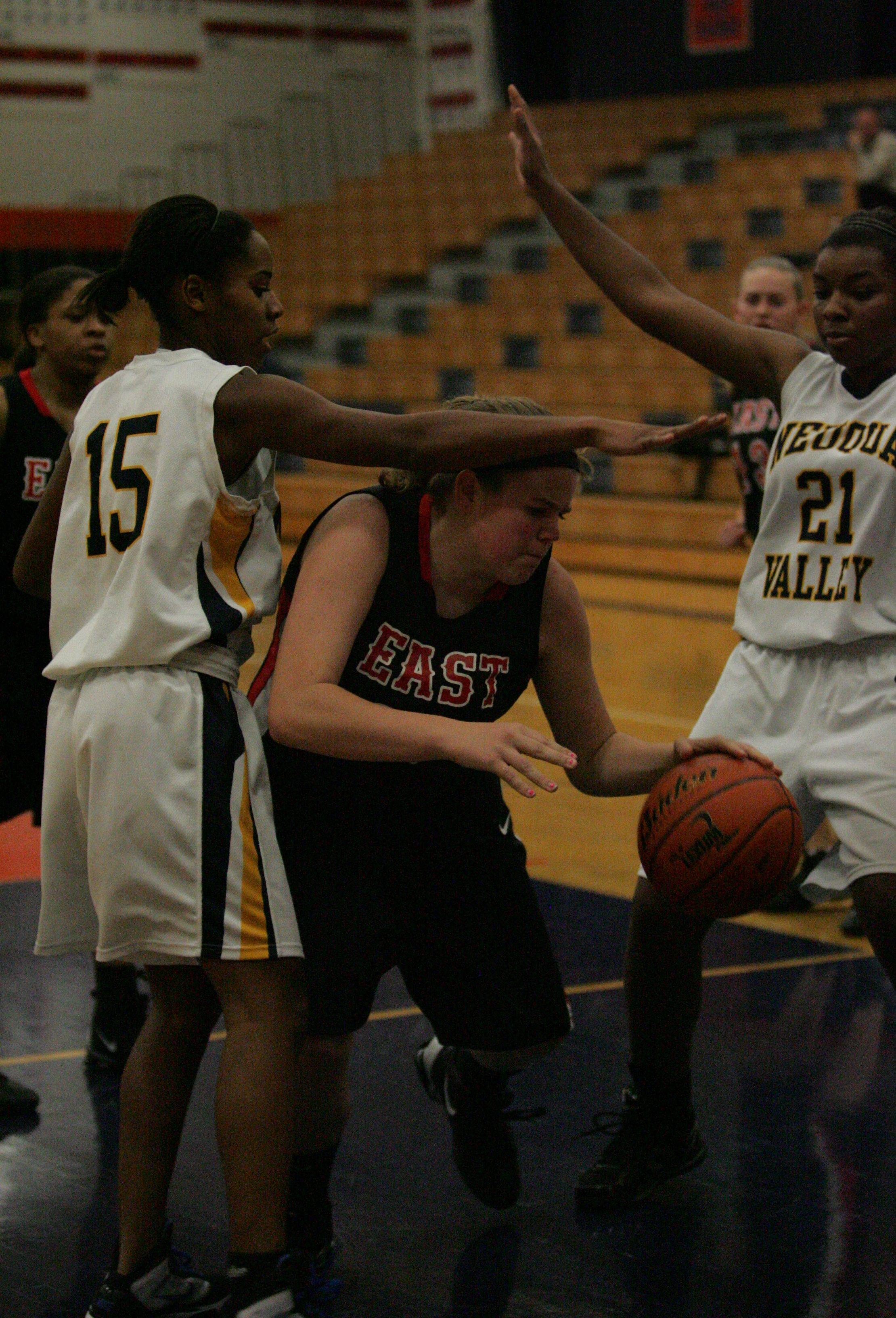 Girls basketball. Neuqua Valley vs. Glenbard East at Oswego tournament.