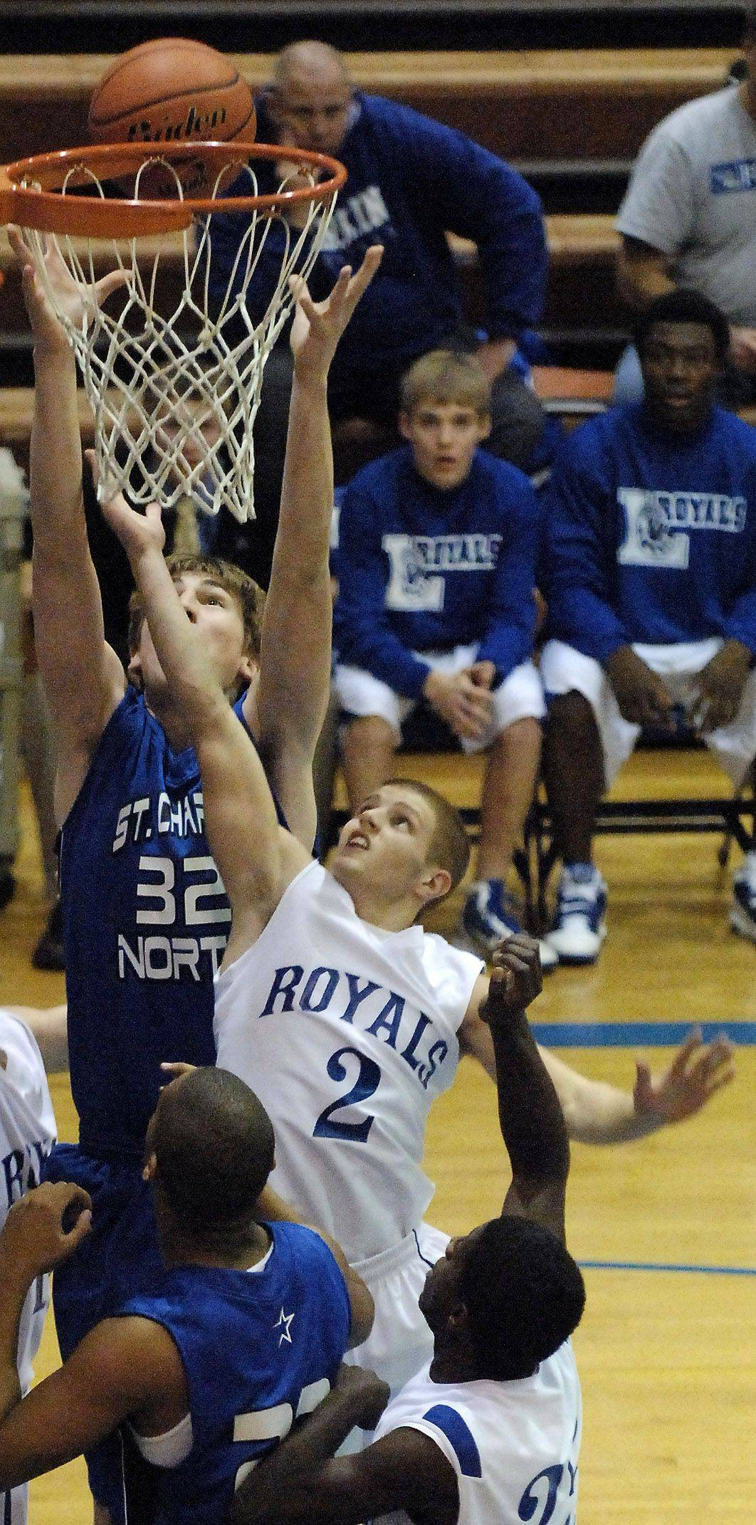Images from the St. Charles North vs. Larkin boys basketball game Thursday, December 16, 2010.