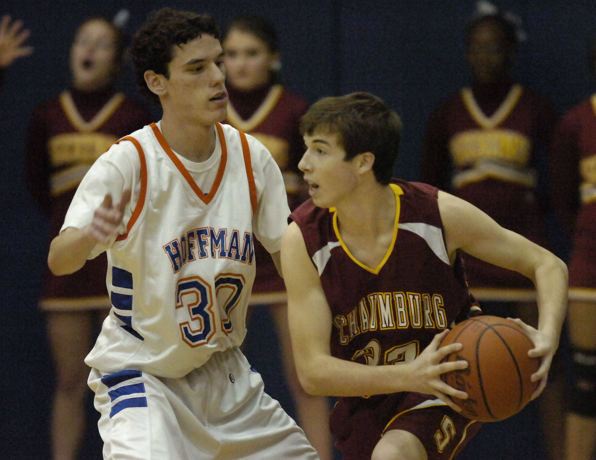 Images from the Hoffman Estates vs Schaumburg boys basketball game in Hoffman Estates on Friday, December 17th