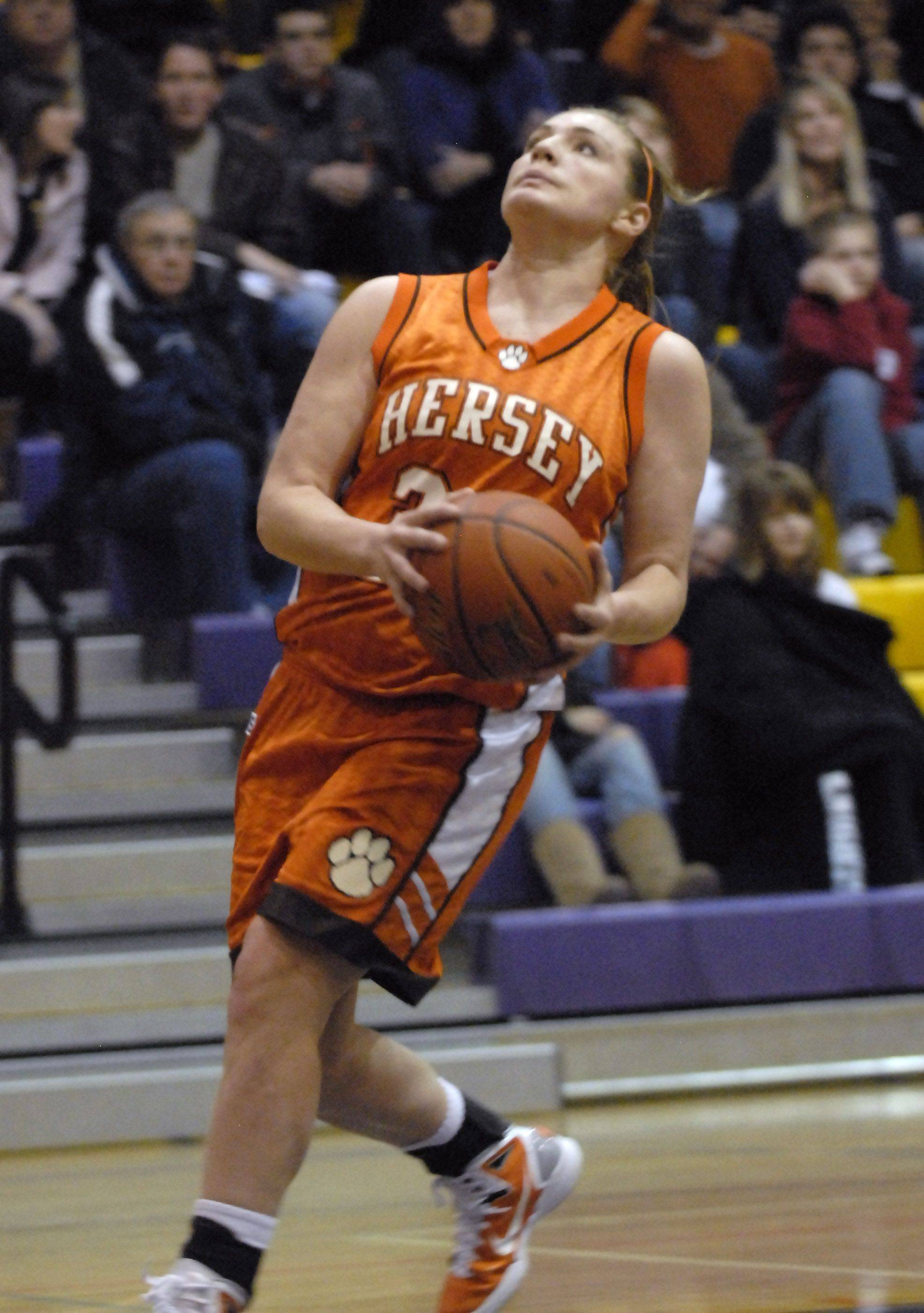 Images from the Rolling Meadows vs Hersey girls basketball game in Rolling Meadows on Friday, December 17th.