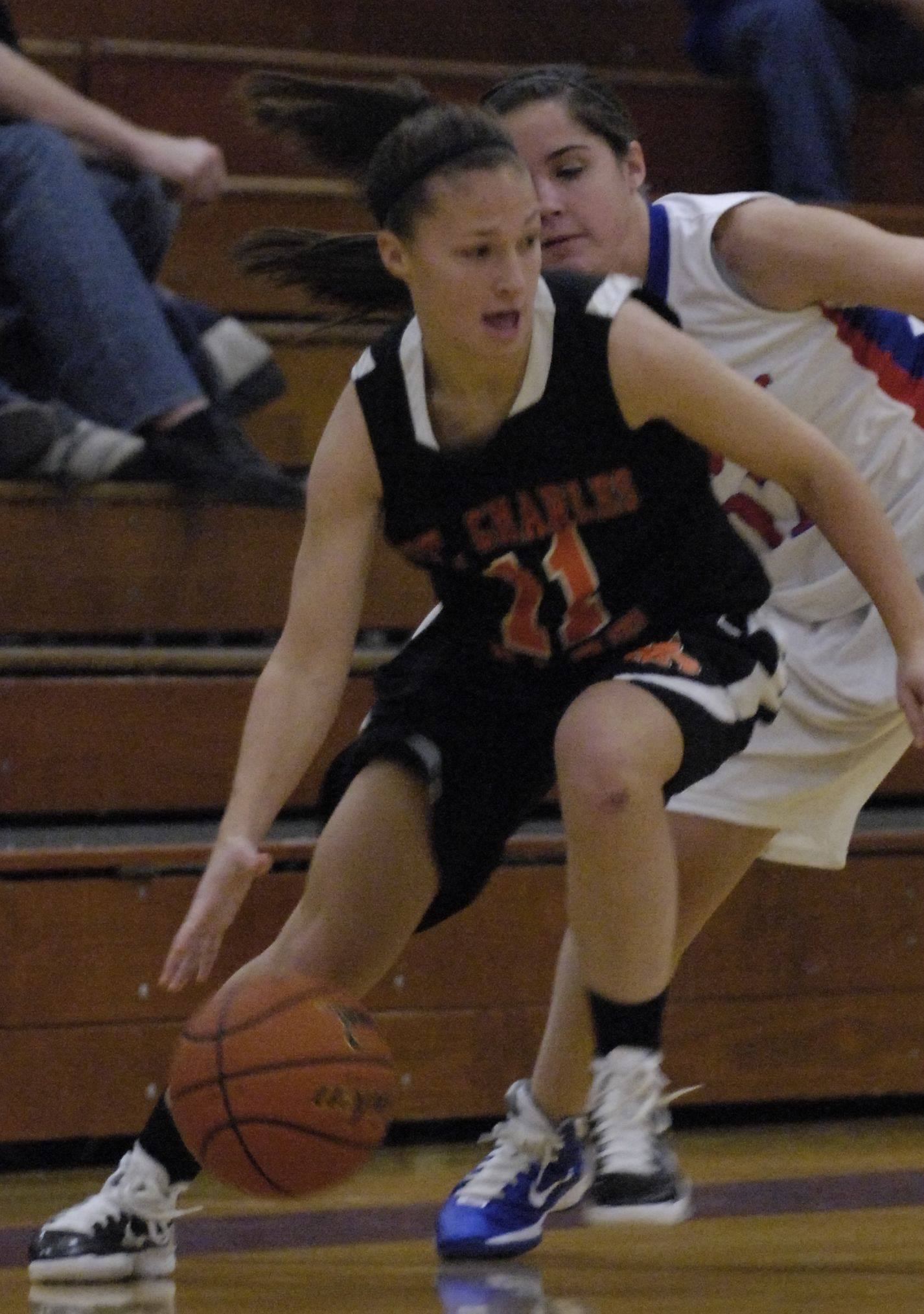 Images from the Glenbard South vs. St. Charles East girls basketball game Monday, December 20, 2010.