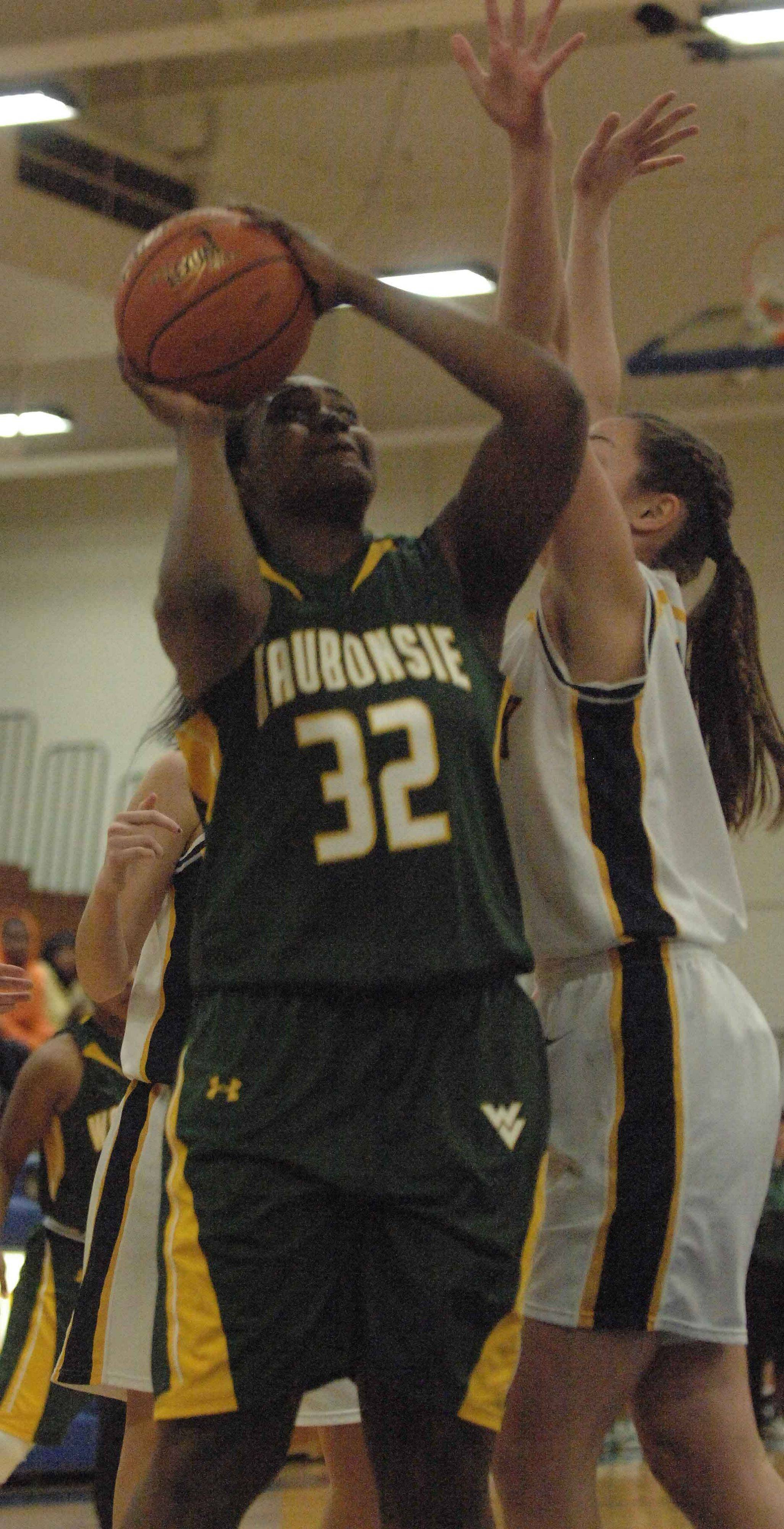 Rachael Ross of Waubonsie takes a shot during the Waubonsie Valley vs. Glenbrook South game at Wheaton North Wednesday.