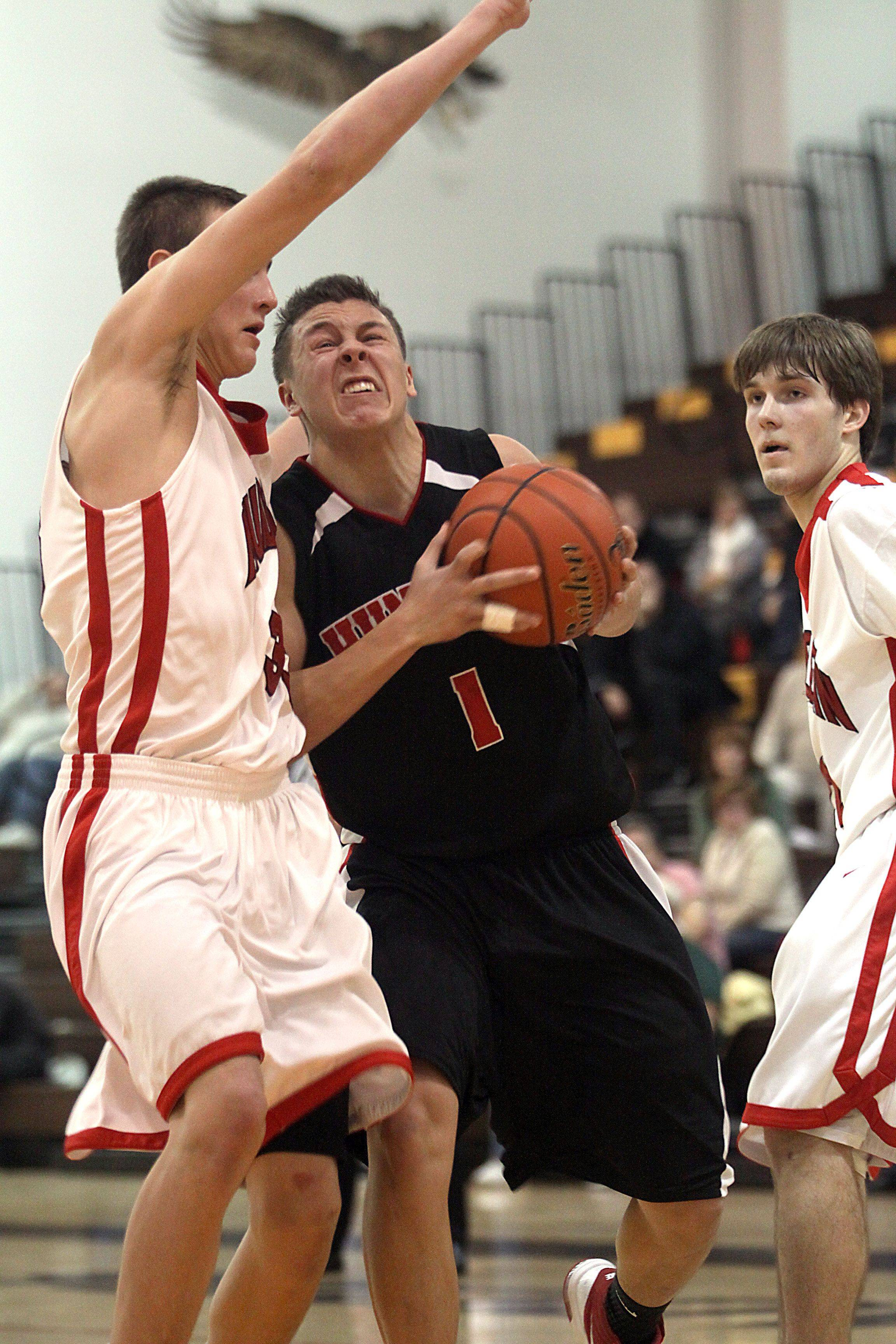 Dec. 23, 2010- Huntley plays Mundelein in the title game of the Jacobs Holiday Classic Boys Basketball Tournament in Algonquin.