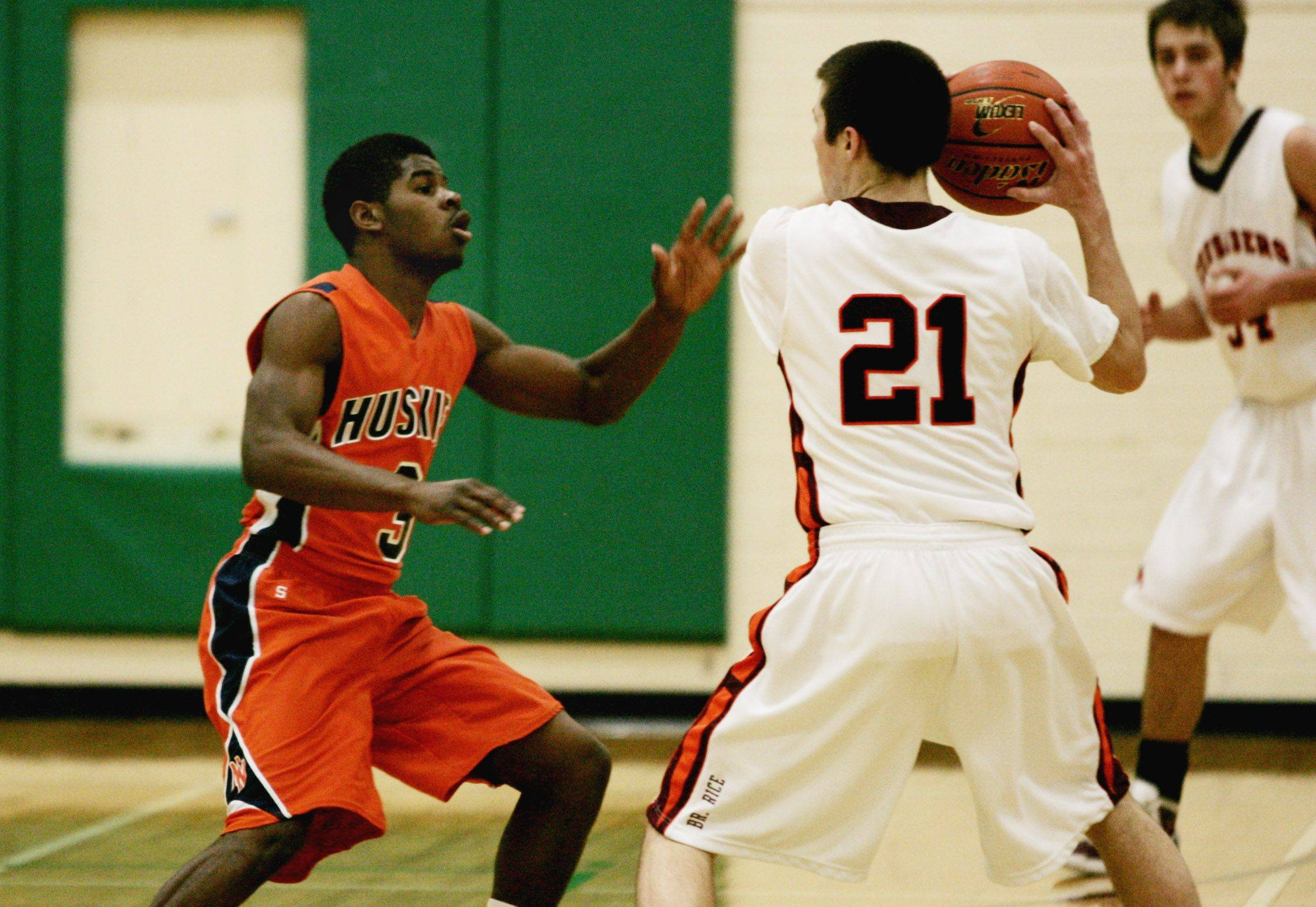 Boys basketball. Naperville North vs. Brother Rice boys basketball at York High School in Elmhurst.