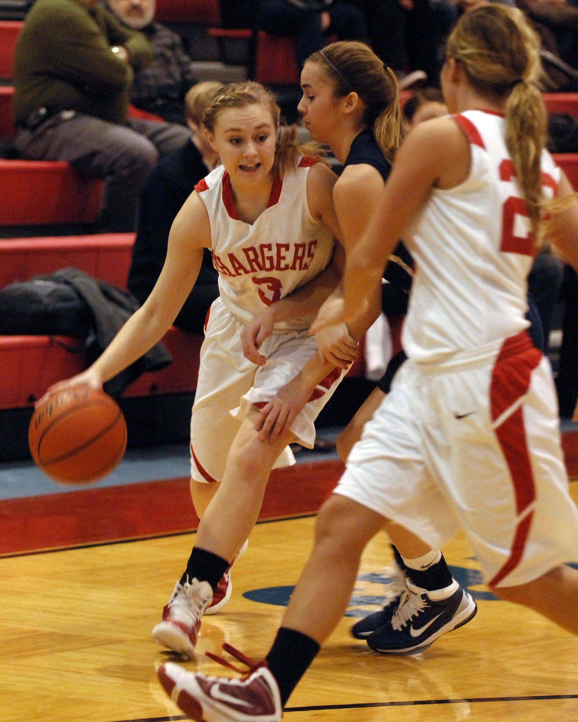 Images from the Dundee-Crown vs. New Trier girls basketball game Monday, December 27 at the Charger Classic.