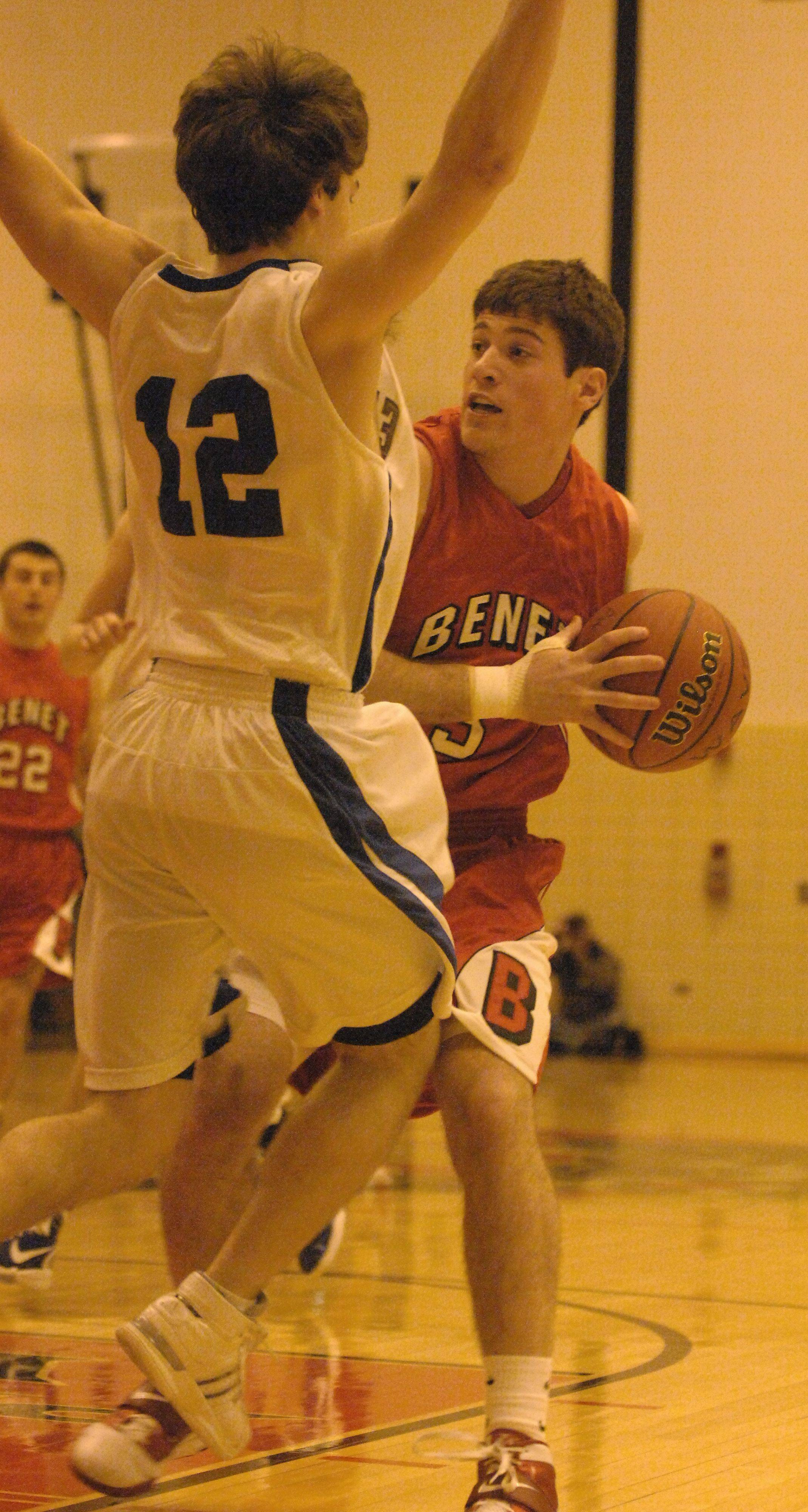 Benet vs. New Trier boys basketball at Proviso West Tuesday.