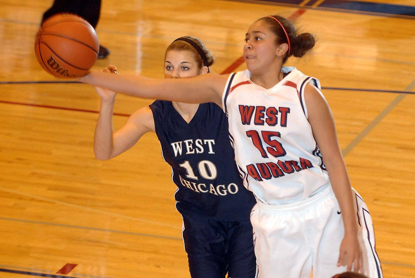 Images from the West Aurora vs. West Chicago girls basketball game Thursday, January 6, 2011.