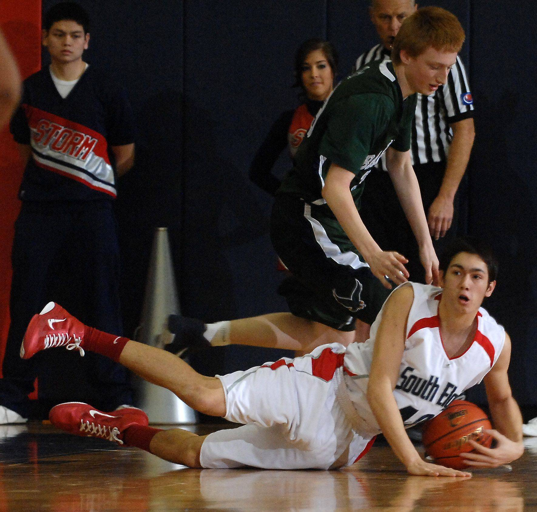 Images from the Bartlett vs. South Elgin boys basketball game Friday, January 7, 2011.