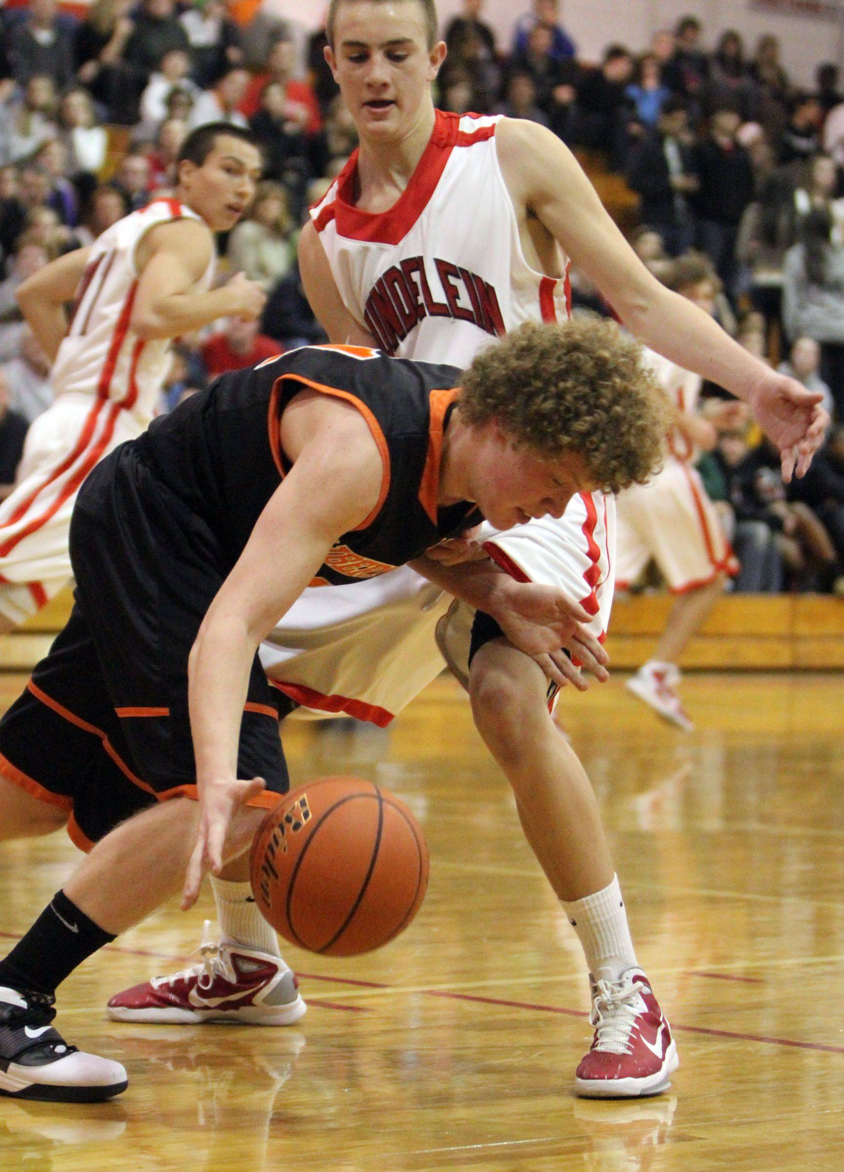 Images from the Libertyville at Mundelein boys basketball game Friday, January 7.