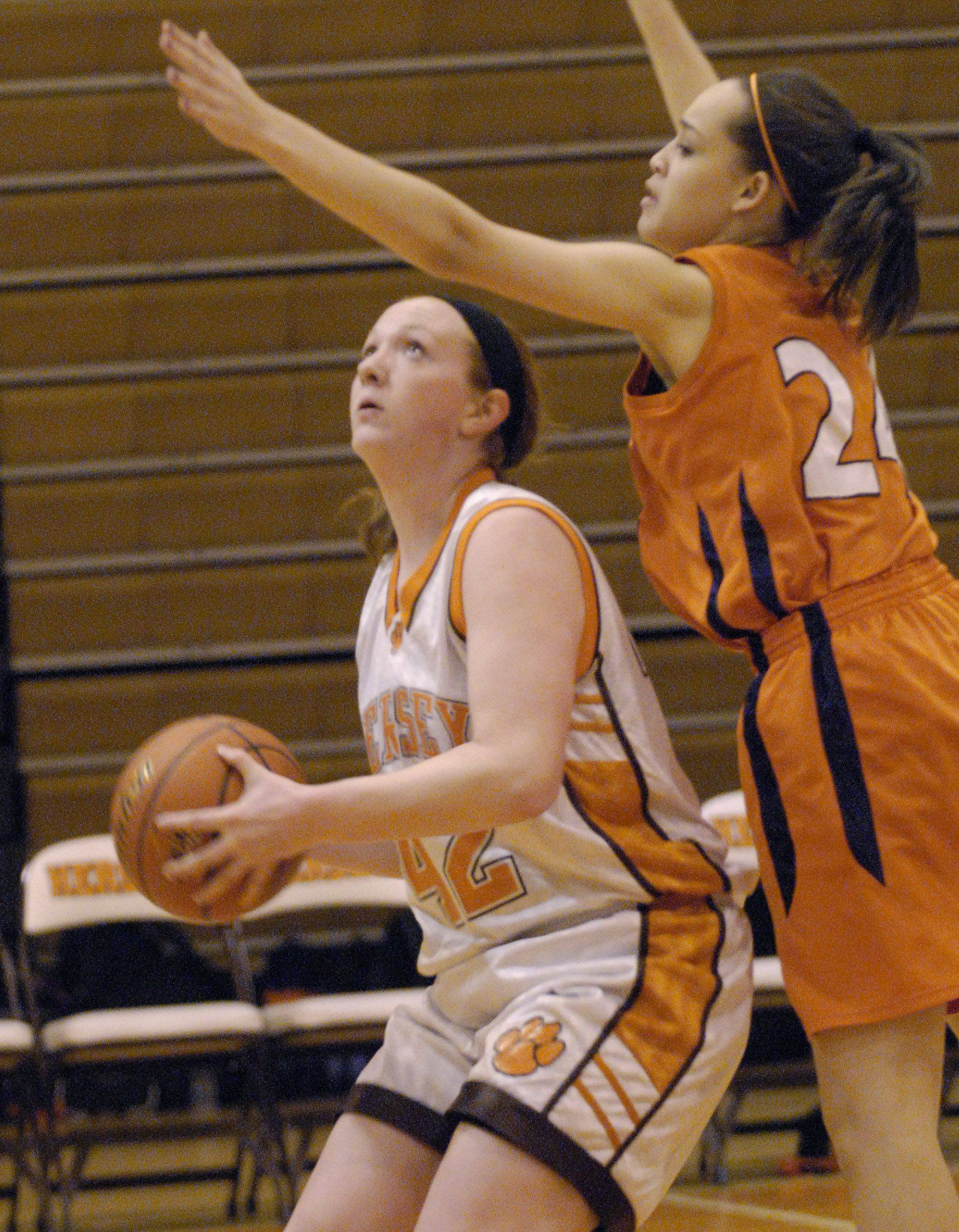 Hersey's Maggie Hogan takes a shot during the Huskies' victory over Chicago Latin.