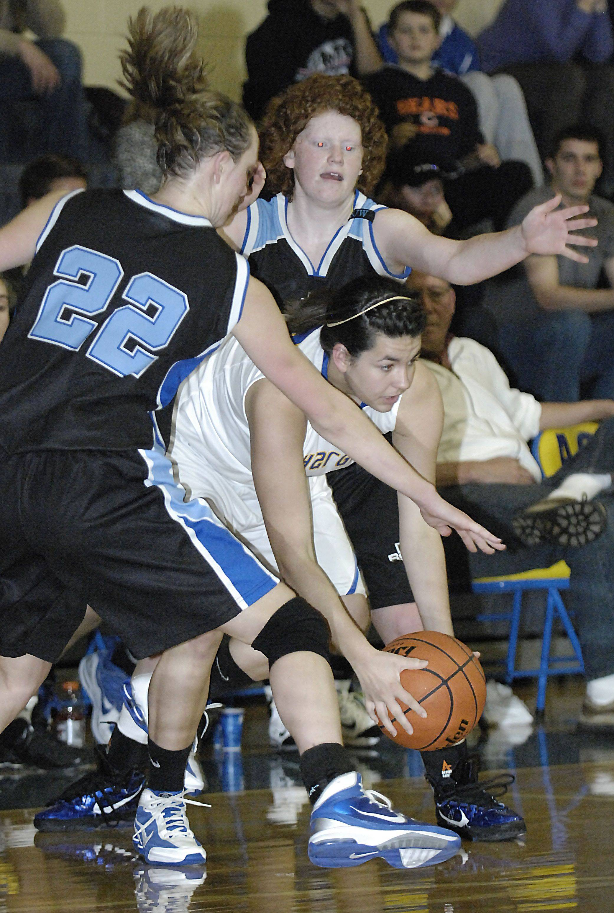 Images from the Rosary vs. Aurora Central girls basketball game Tuesday, January 11, 2011.
