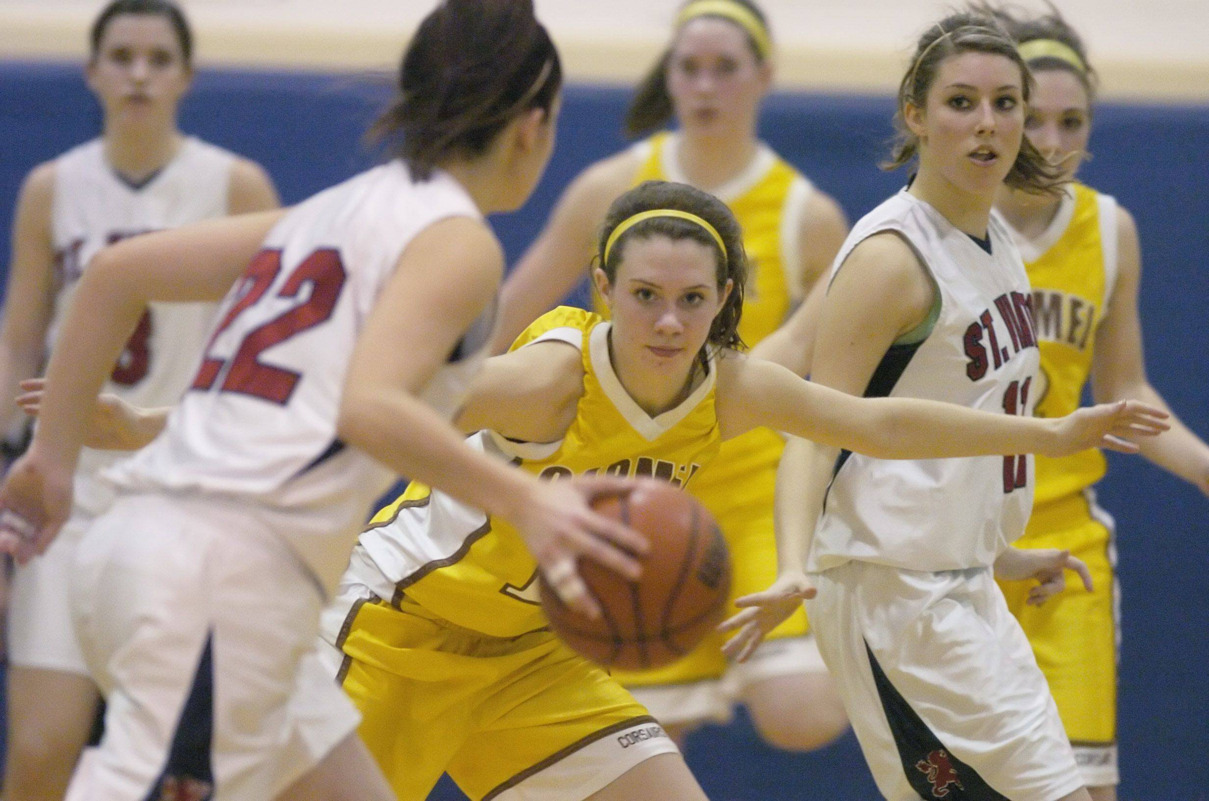 Images from the St. Viator vs. Carmel girls basketball game in Arlington Heights on Wednesday, January 19th.