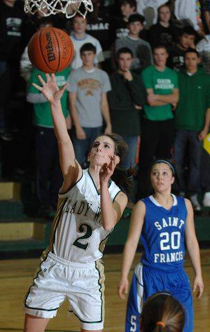 St. Edward's Rena Ranallo takes a shot against St. Francis.