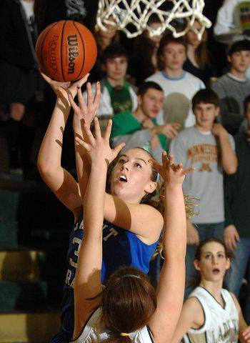 St. Francis's Fiona McMahon takes a shot.