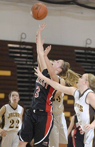 Huntley's Rachel Chapuis sinks a shot in the third quarter.