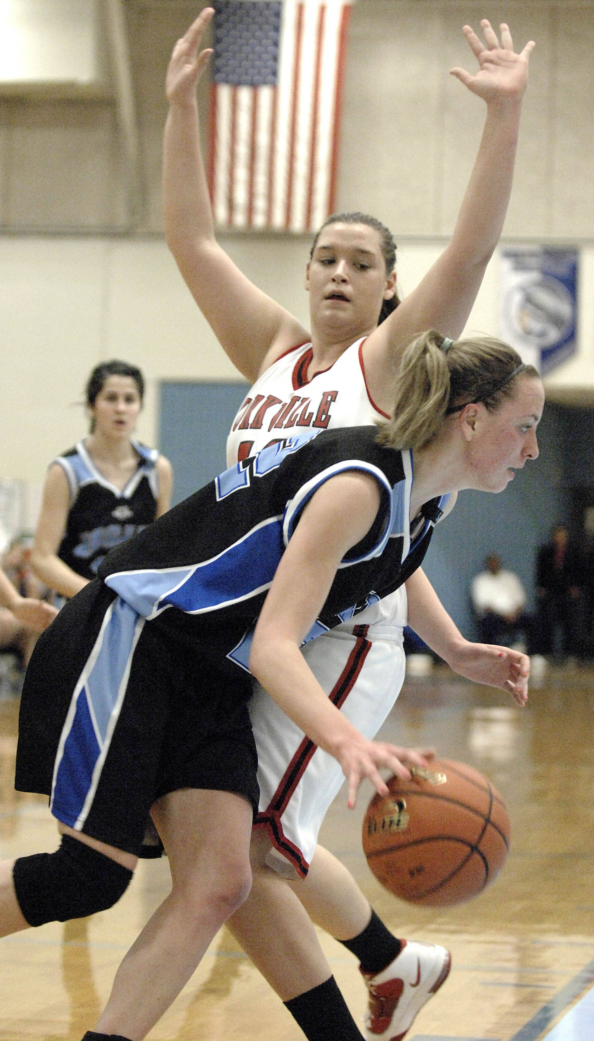 Images: Rosary vs. Yorkville girls basketball