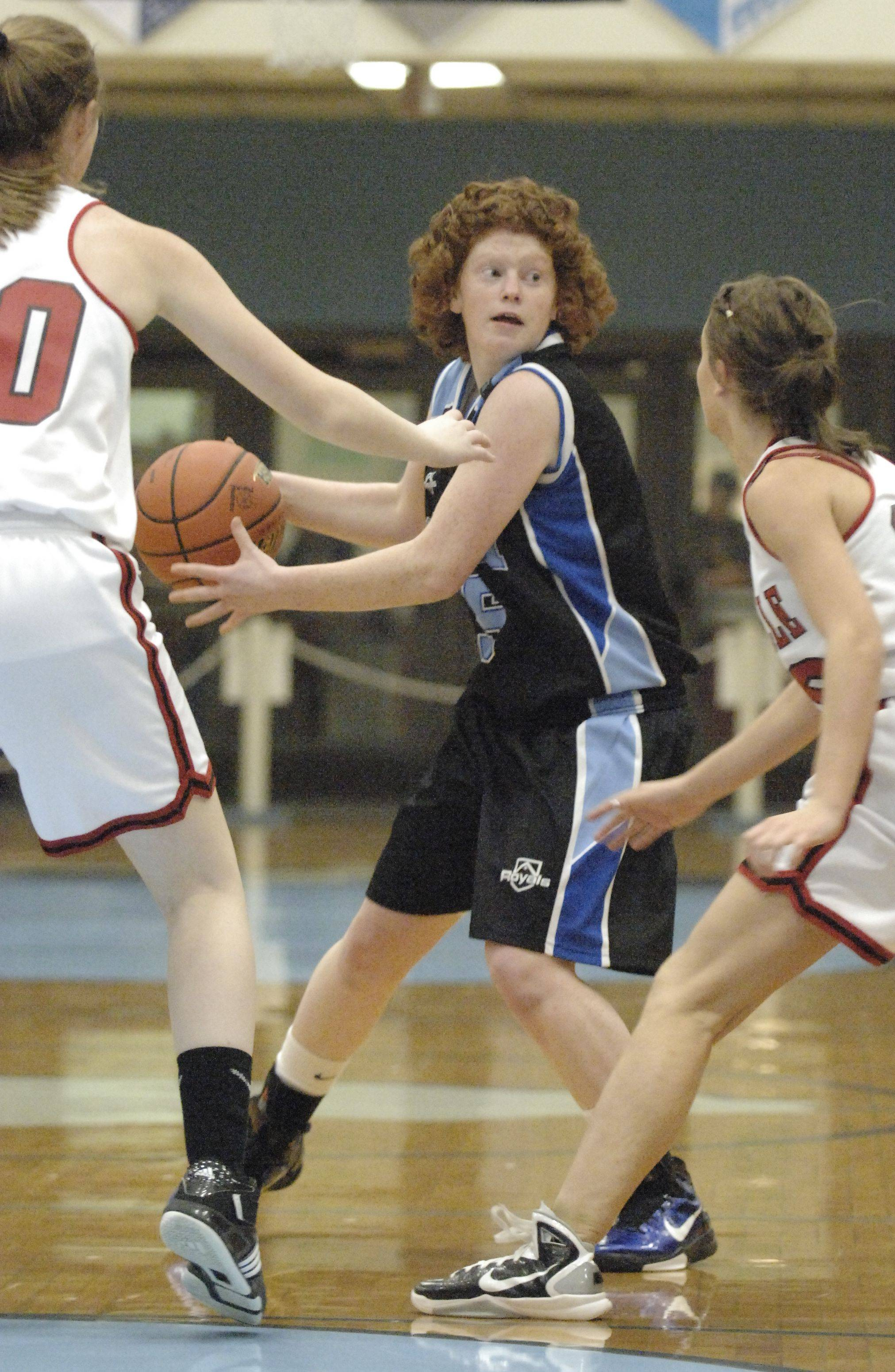 Images from the Rosary vs. Yorkville girls basketball game Tuesday, February 15, 2011.