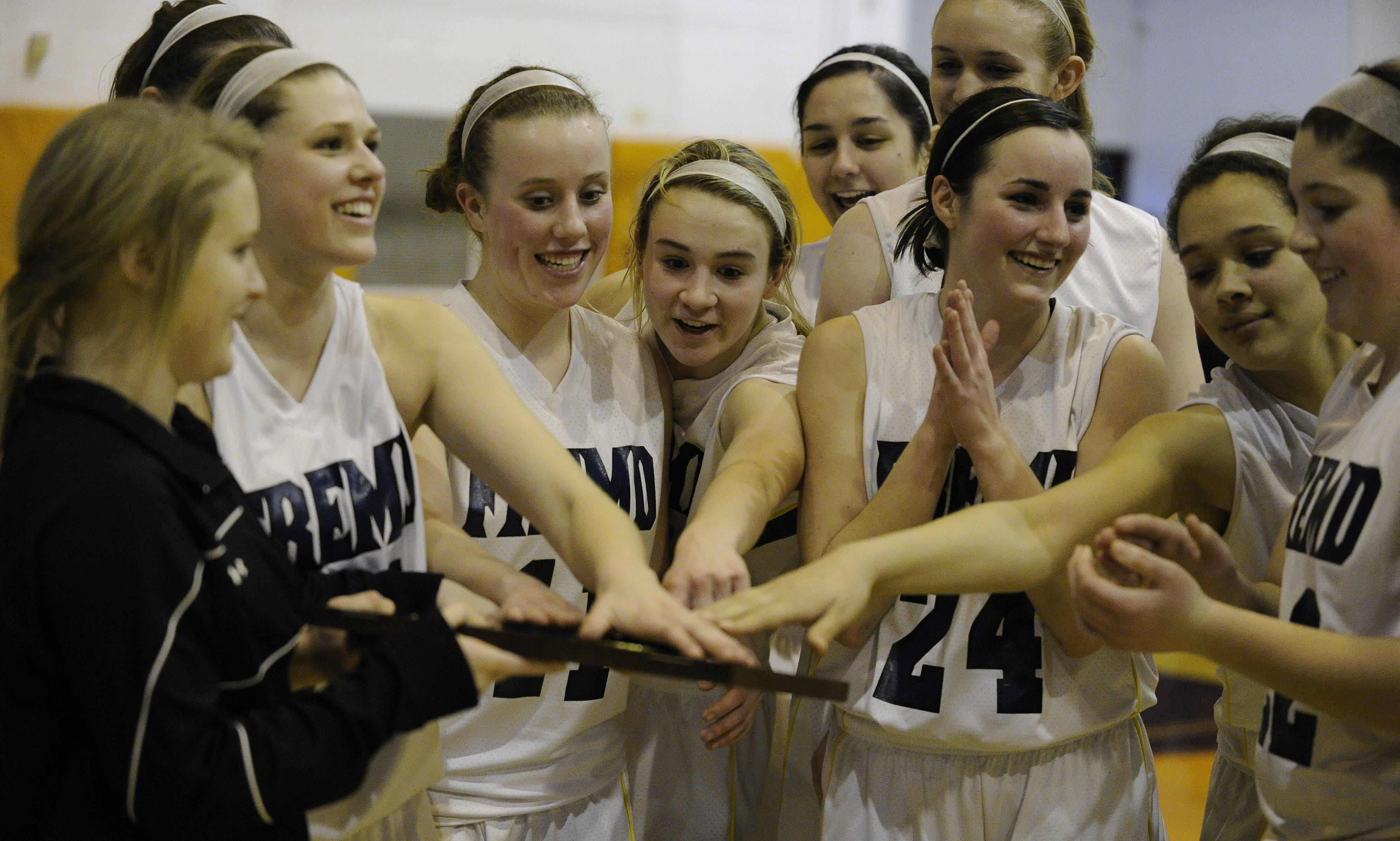 Images from the Buffalo Grove vs. Fremd girls regional championship basketball game in Buffalo Grove on Thursday, February 17th.