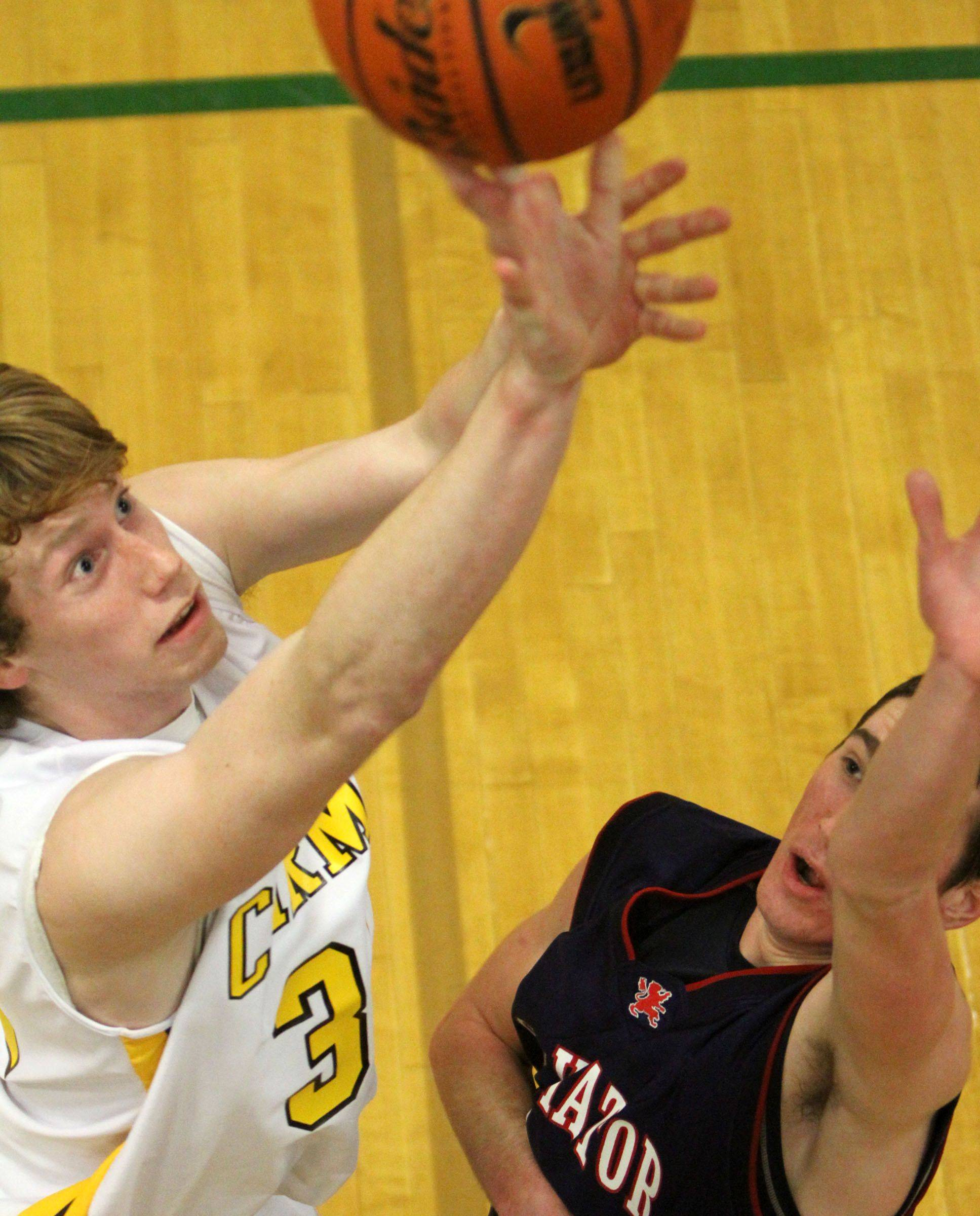 Images from the St. Viator at Carmel boys basketball game Friday, February 18.
