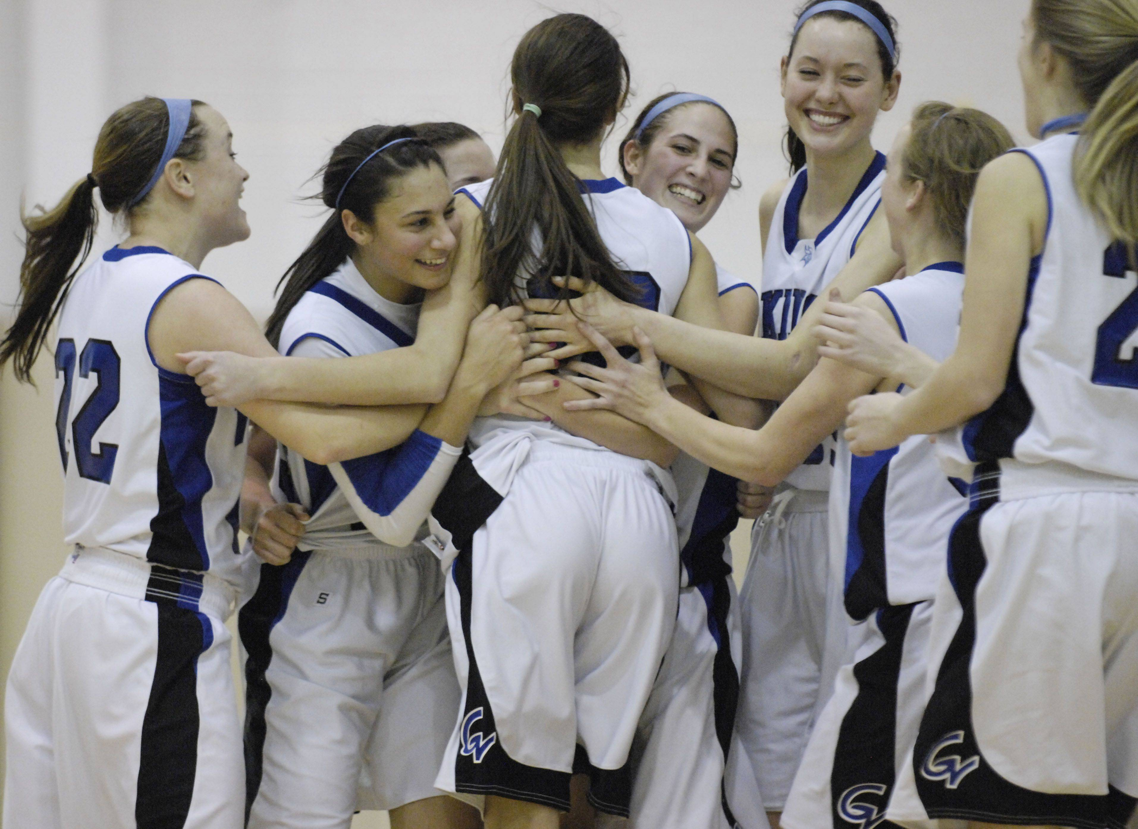 Geneva after beating Hononegah Tuesday in the sectional semi final game in Algonquin.