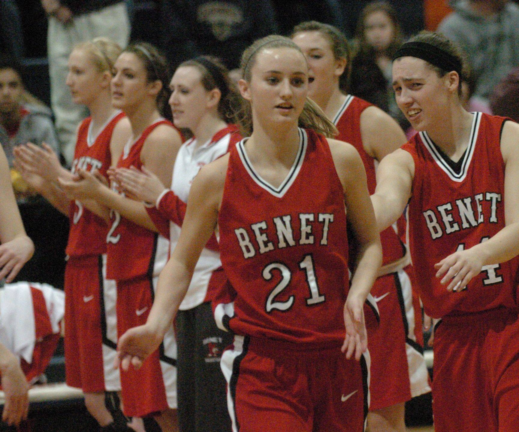 Girls basketball. Benet vs. Bolingbrook in Class 4A Romeoville sectional final.