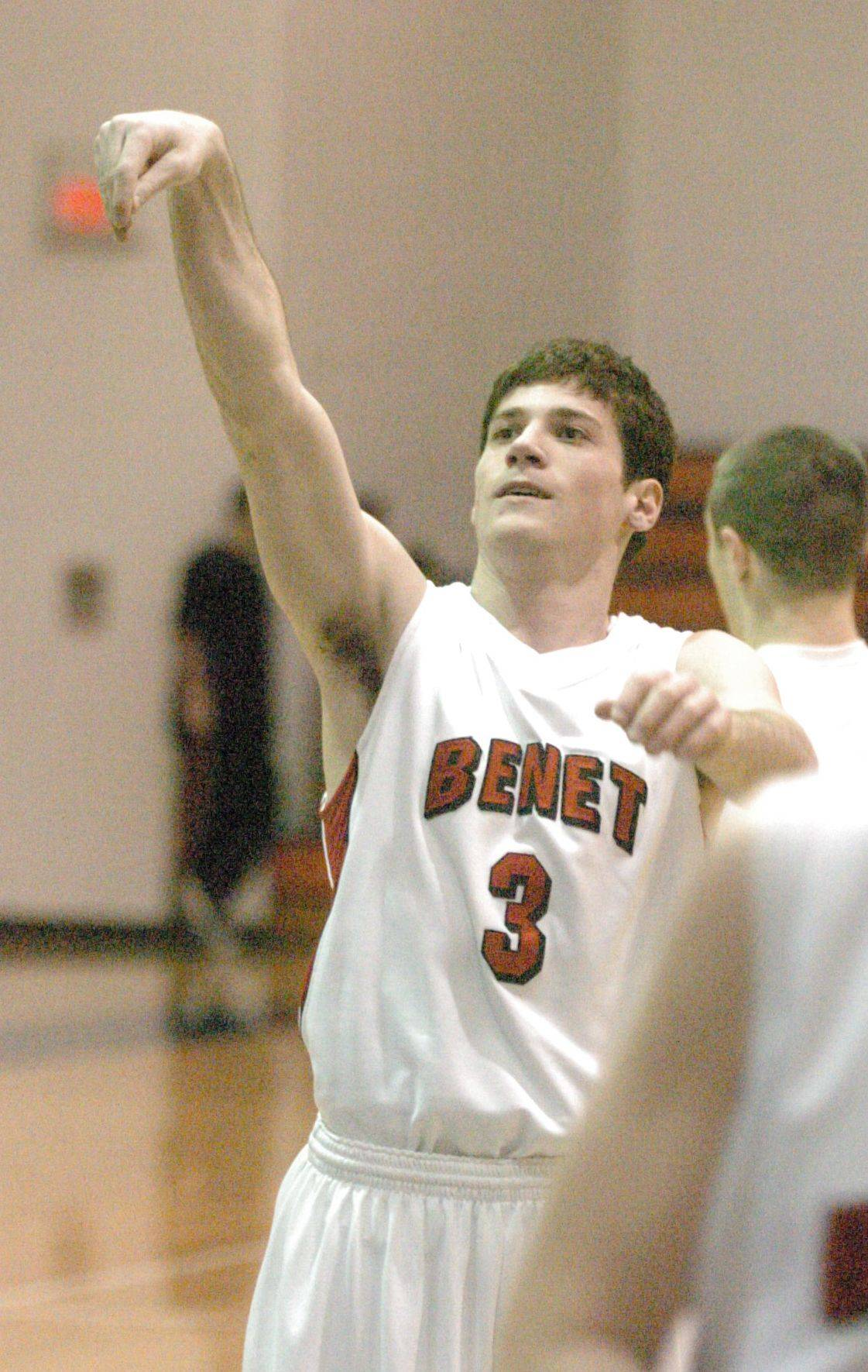 Boys basketball. Benet vs. Plainfield East regional semifinals at Naperville North High School in Naperville.