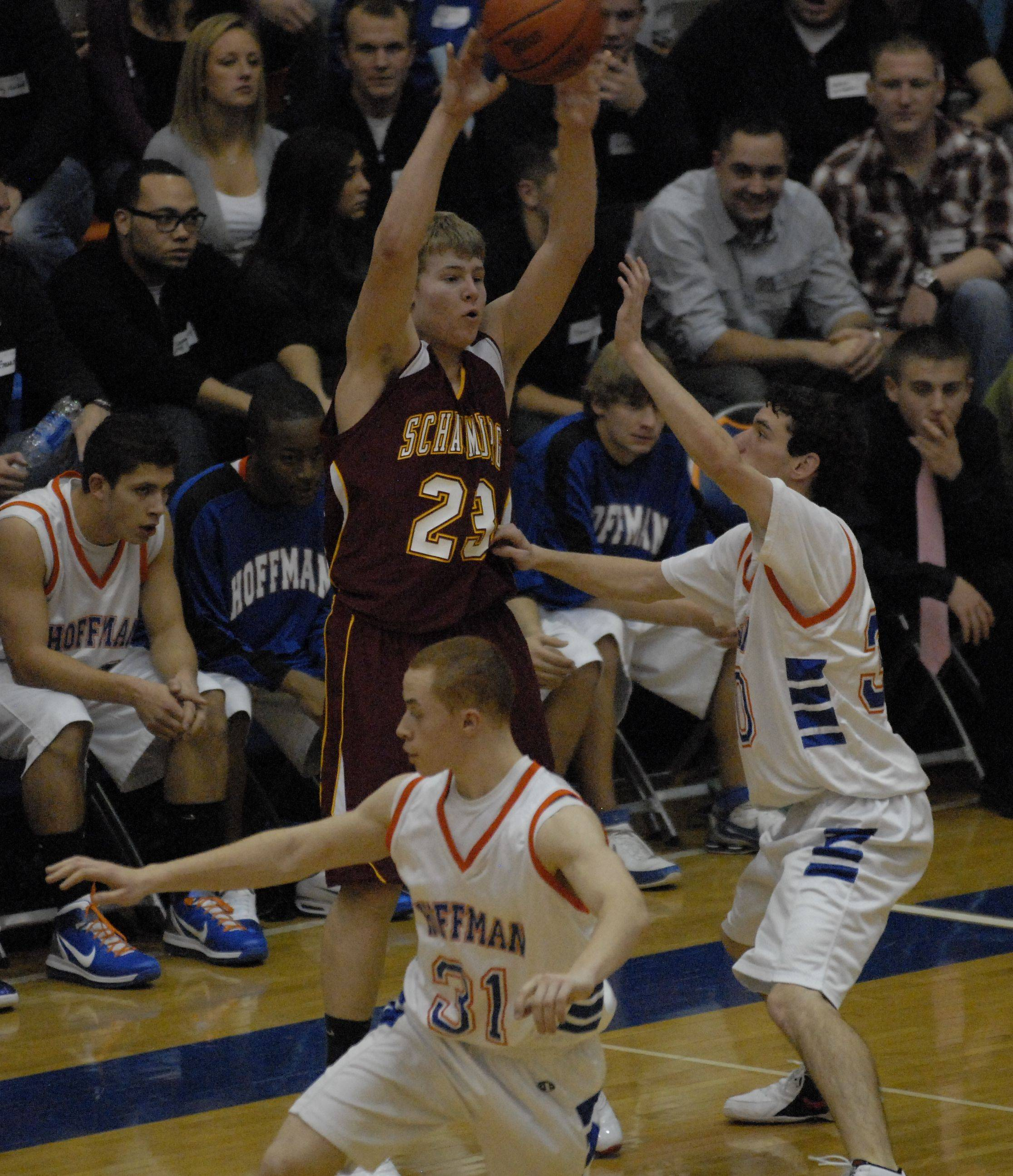 Sophomore Kyle Bolger (23) has Schaumburg looking to continue another upset-filled run against New Trier in tonight's Evanston regional championship.