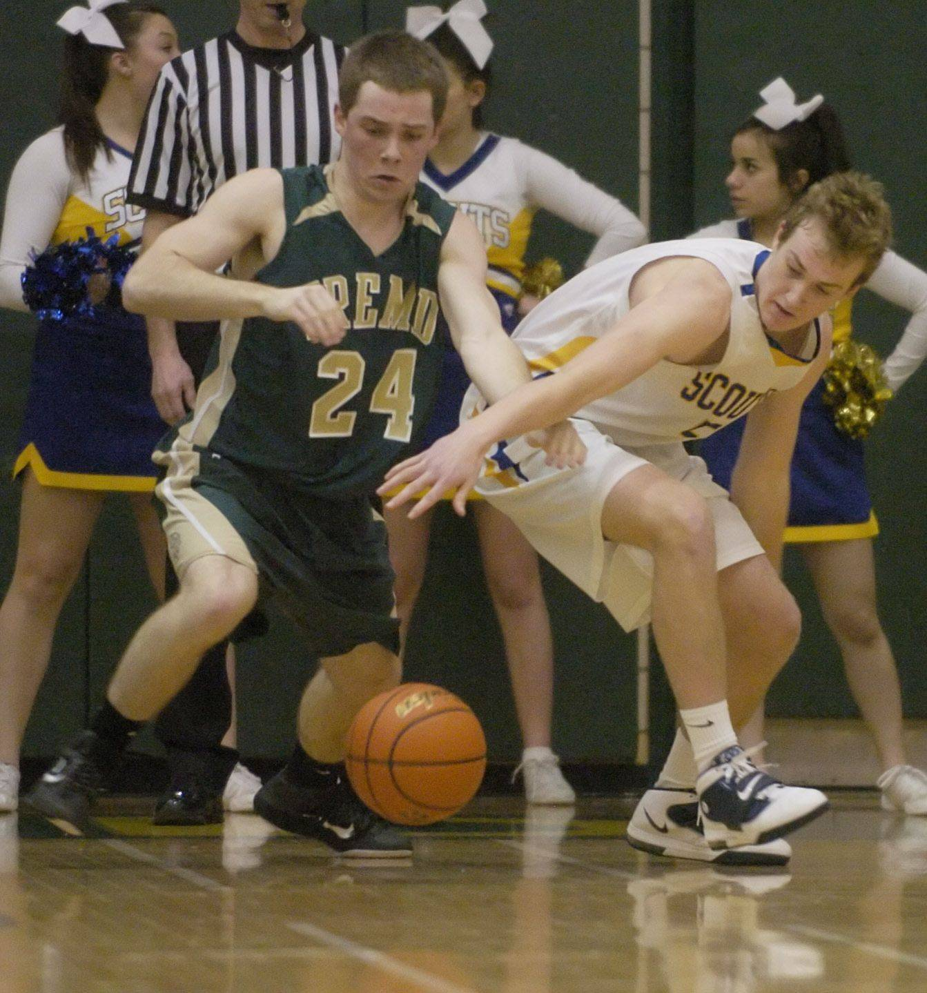 Images from the Fremd vs. Lake Forest boys regional championship basketball game in Palatine on Friday, March 4th.