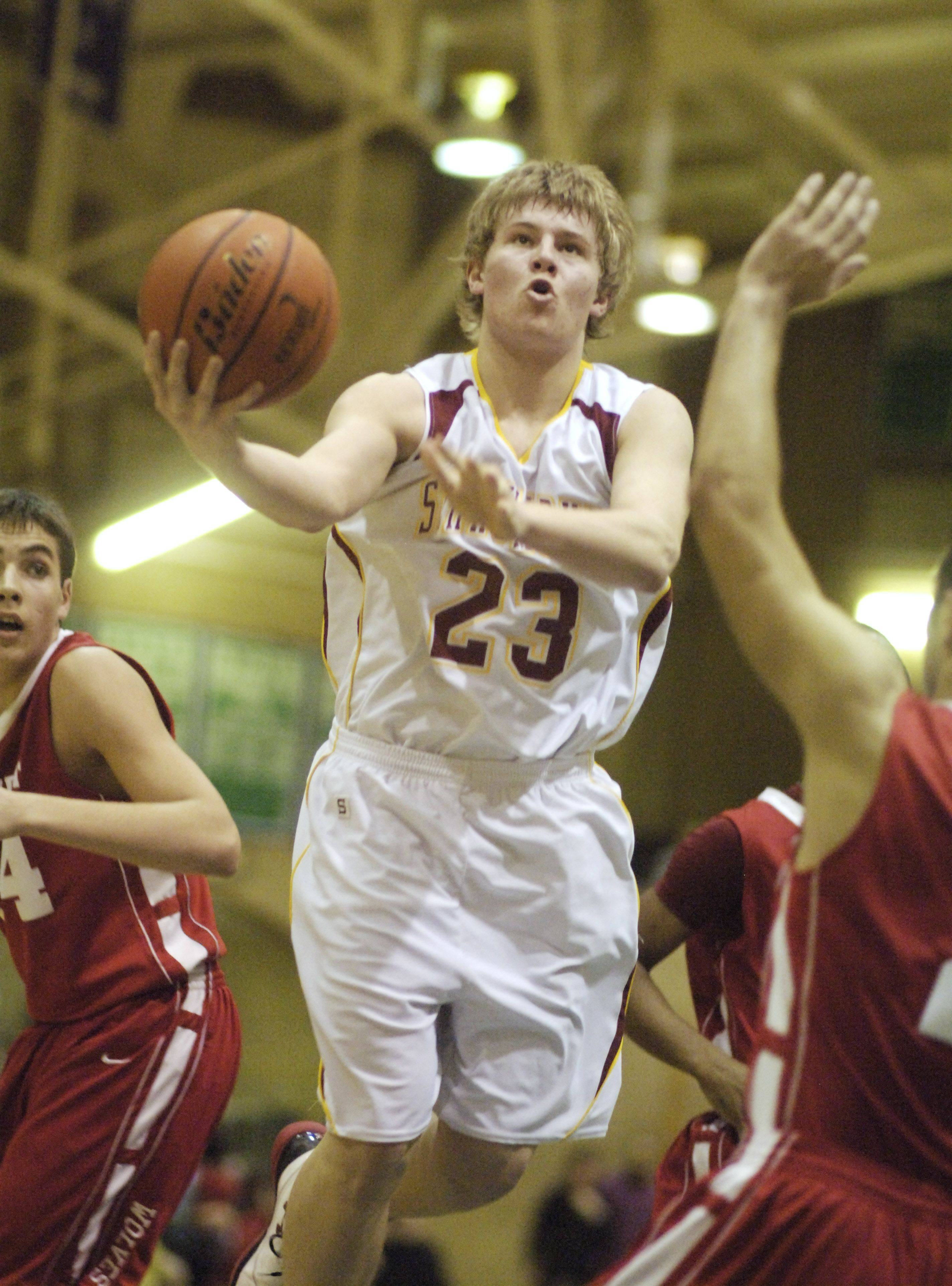 Images: Schaumburg vs. New Trier, boys sectional semifinal basketball