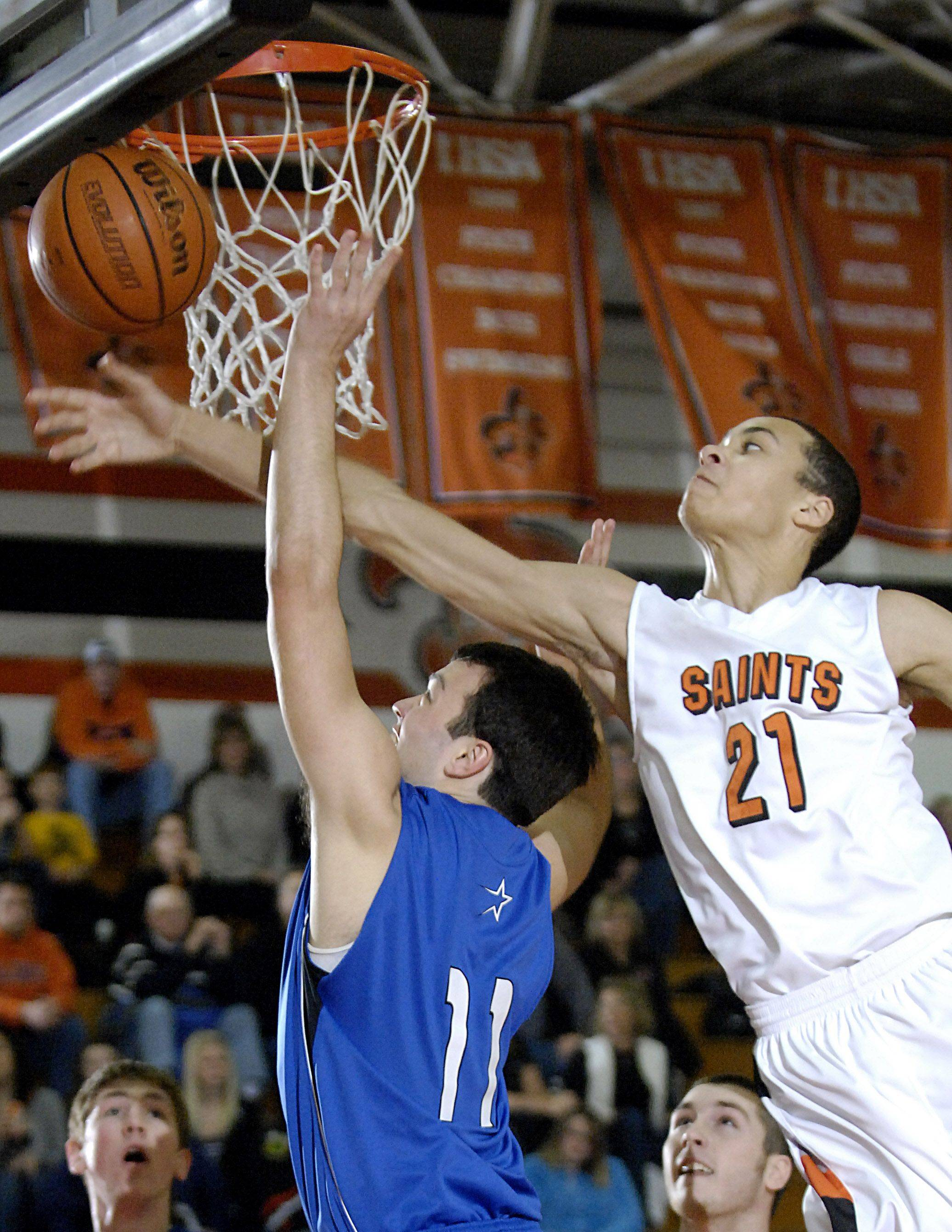 A 6-foot-9 wingspan is one of the things that college coaches like the most about St. Charles East's Kendall Stephens.