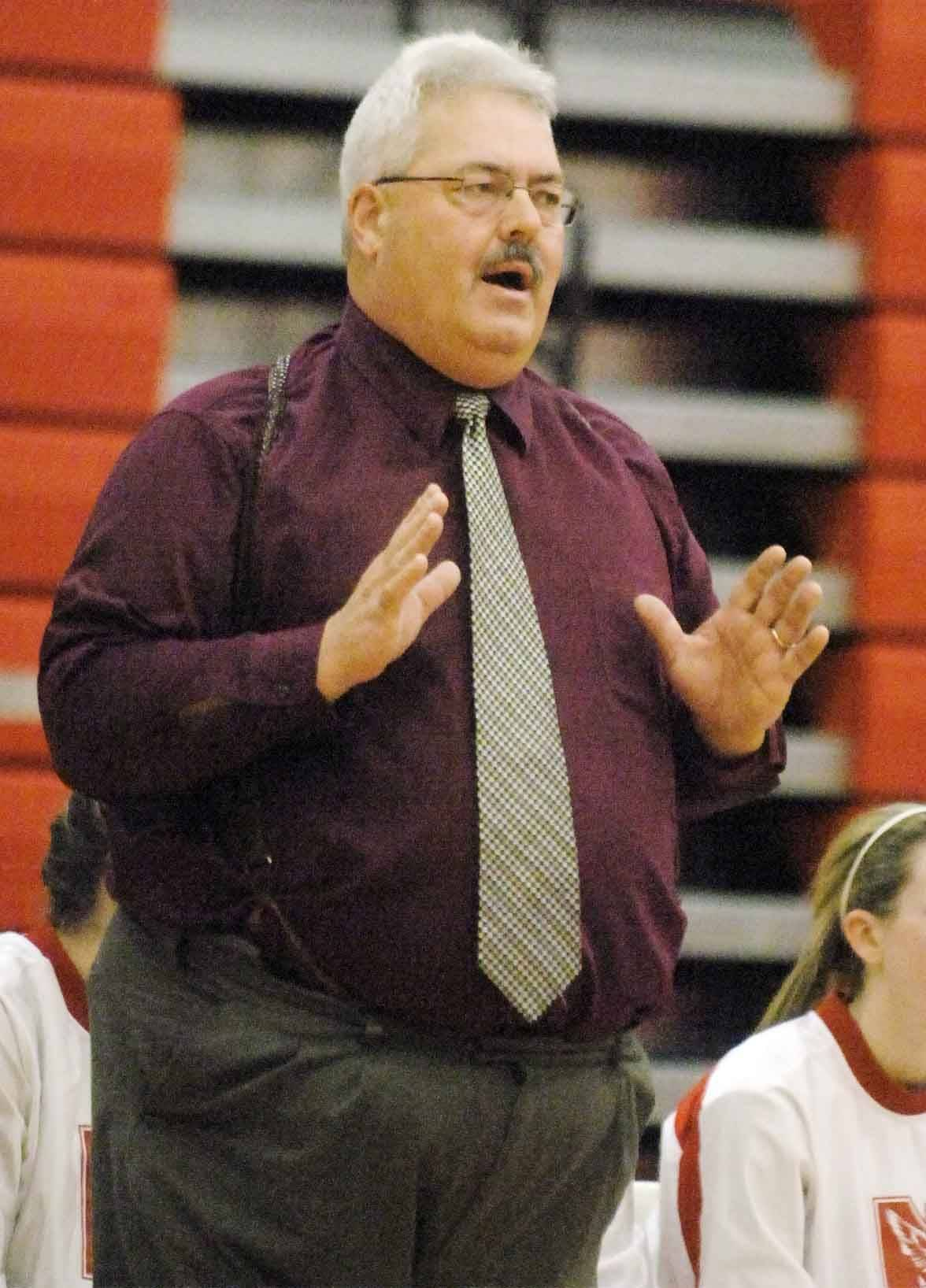 Naperville Central's Andy Nussbaum recently won his 500th game as a girls basketball coach.