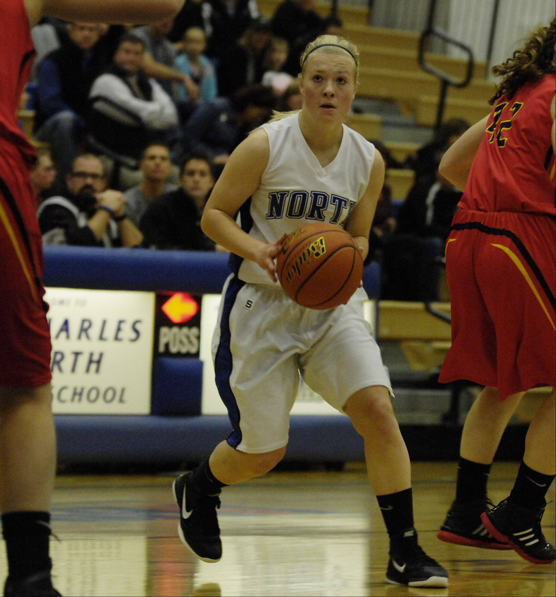 Images from the Batavia vs. St. Charles North girls basketball game Wednesday, November 30, 2011.