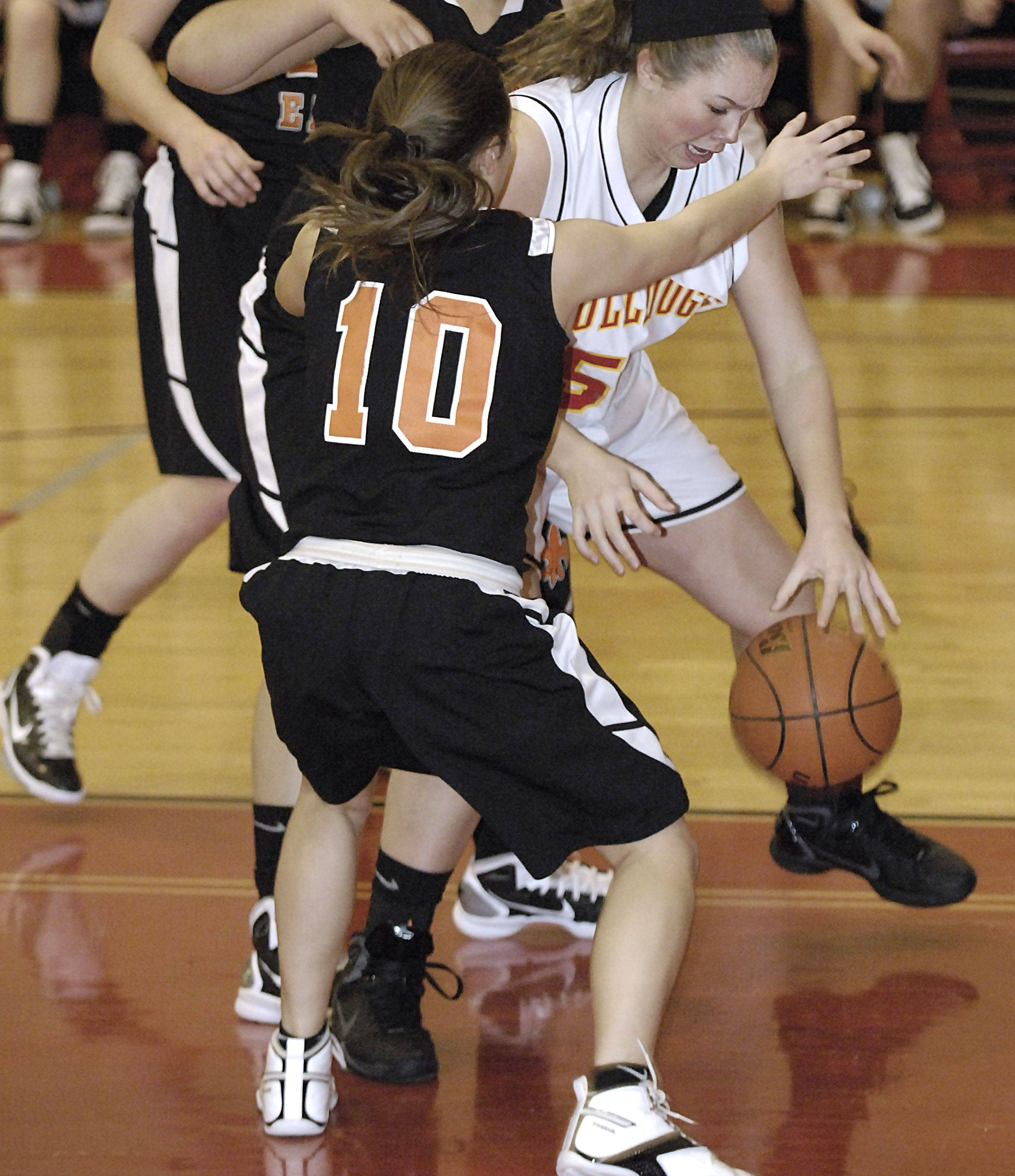 Basketball is just one of the three sports and countless activities for St. Charles East's Annie Martines (10).