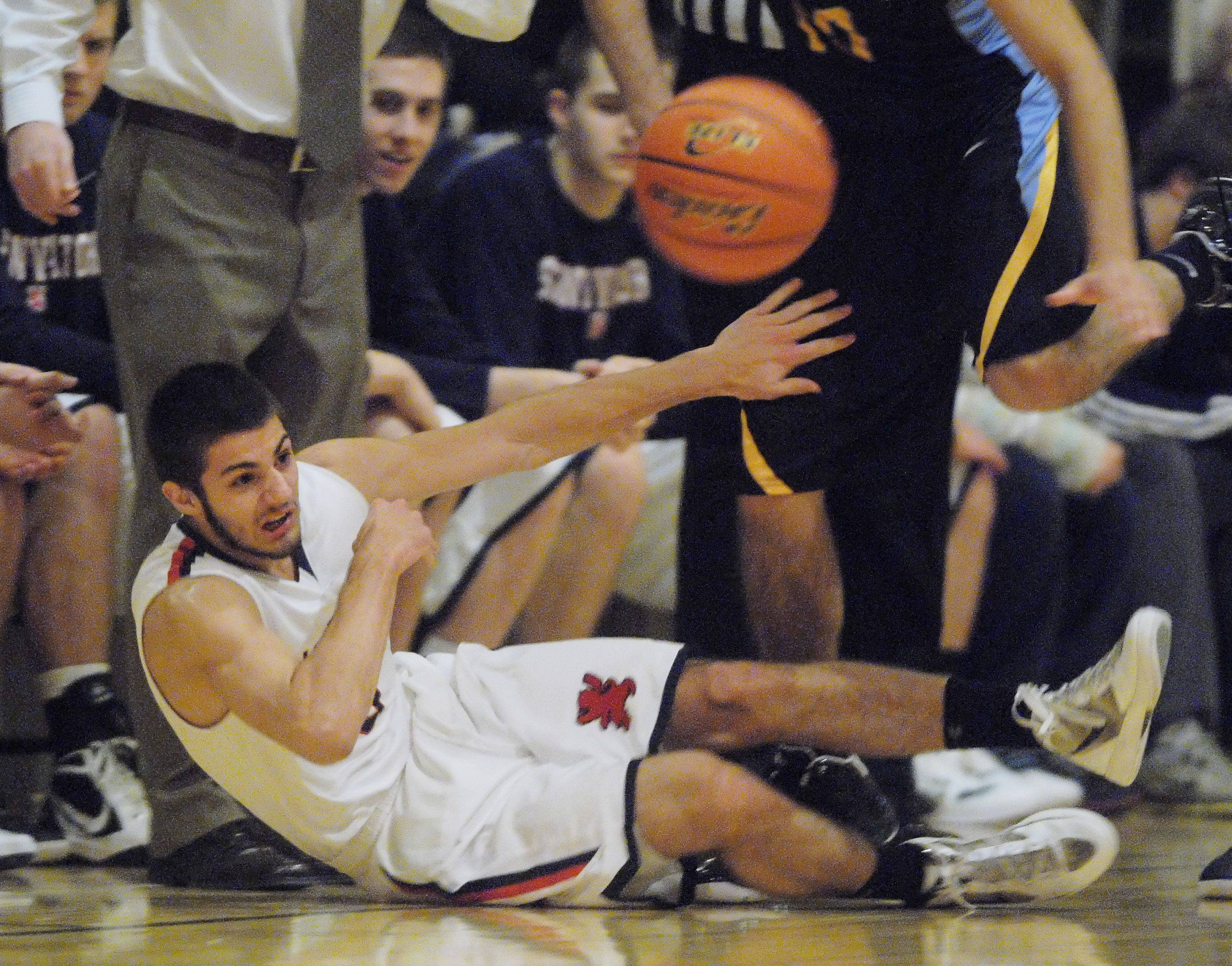 Images from the St. Viator vs. Maine West boys basketball game Tuesday, December 27, 2011.